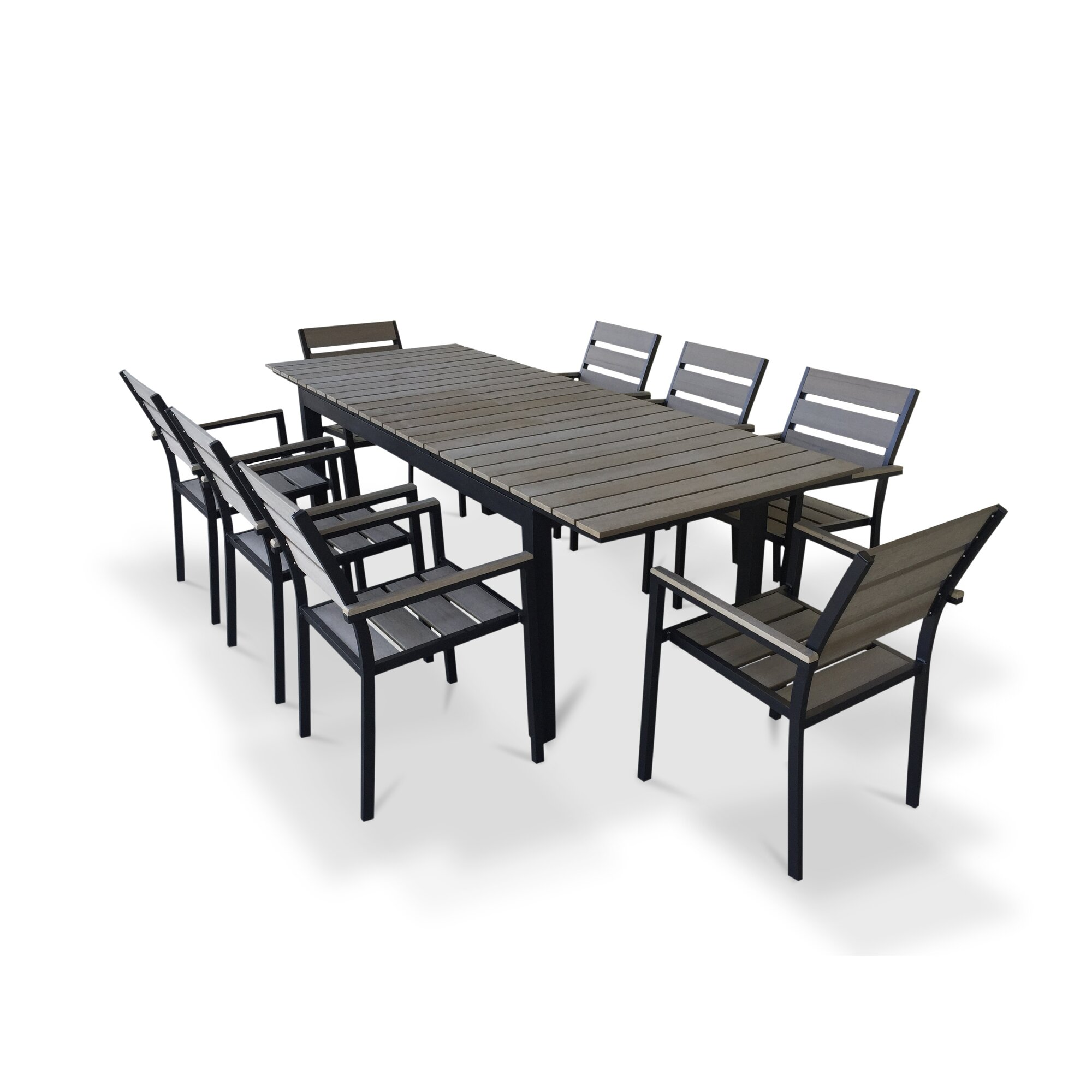 Dining Sets Clearance: Urban Furnishings 9 Piece Extendable Outdoor Dining Set