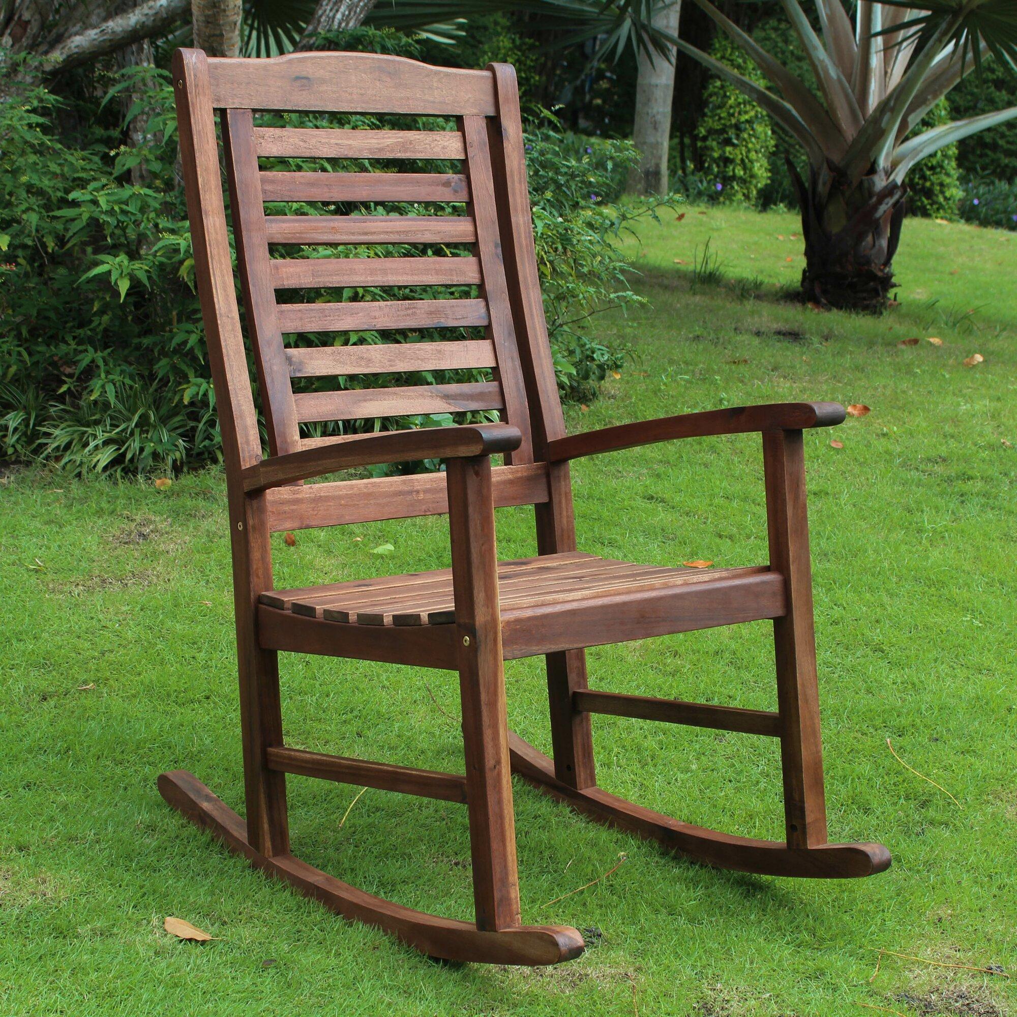 Outdoor Rocking Chair Wyndmoor Wicker Resin Outdoor Rocking Chair
