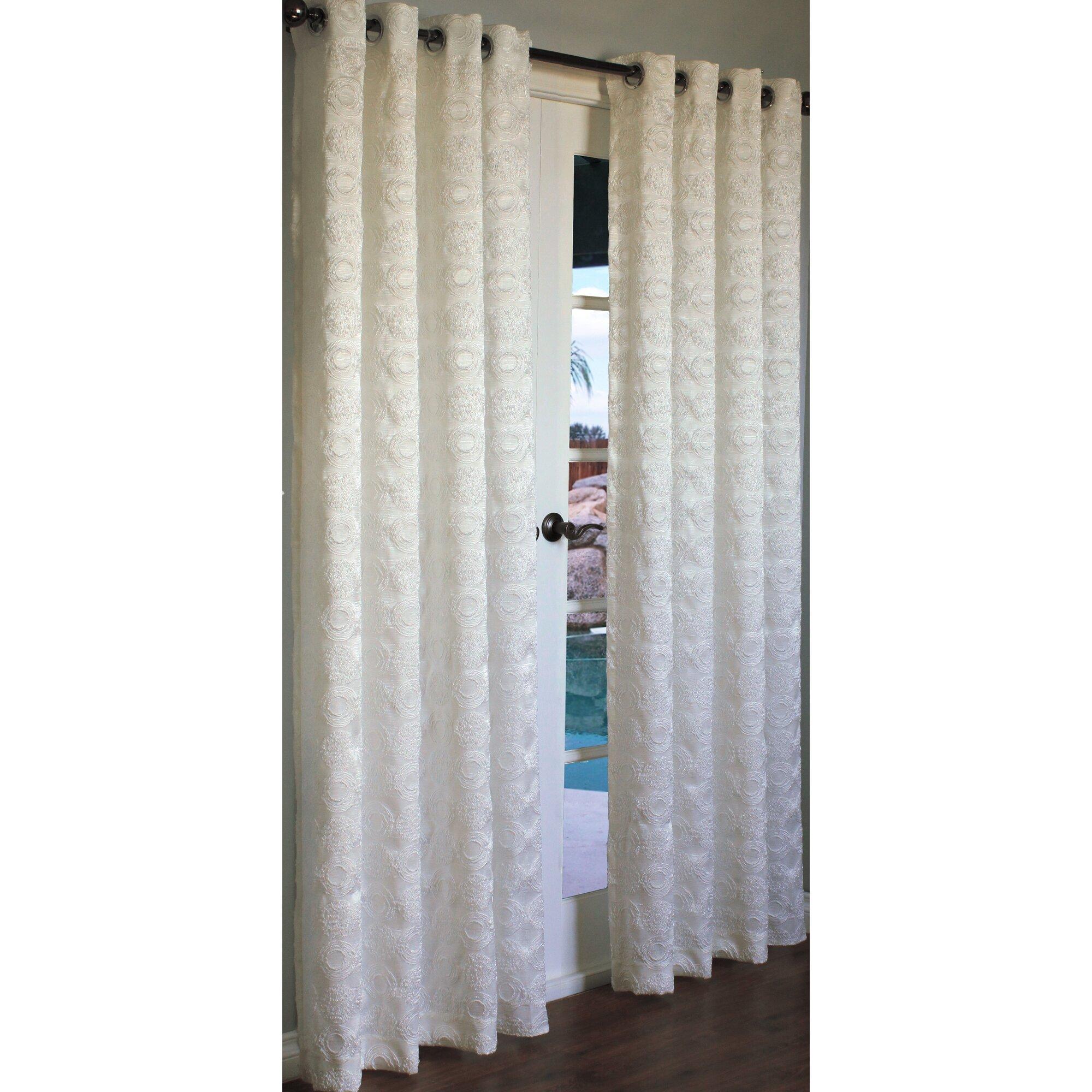 Brayden Studio Arlon Geometric Semi Sheer Curtain Panels