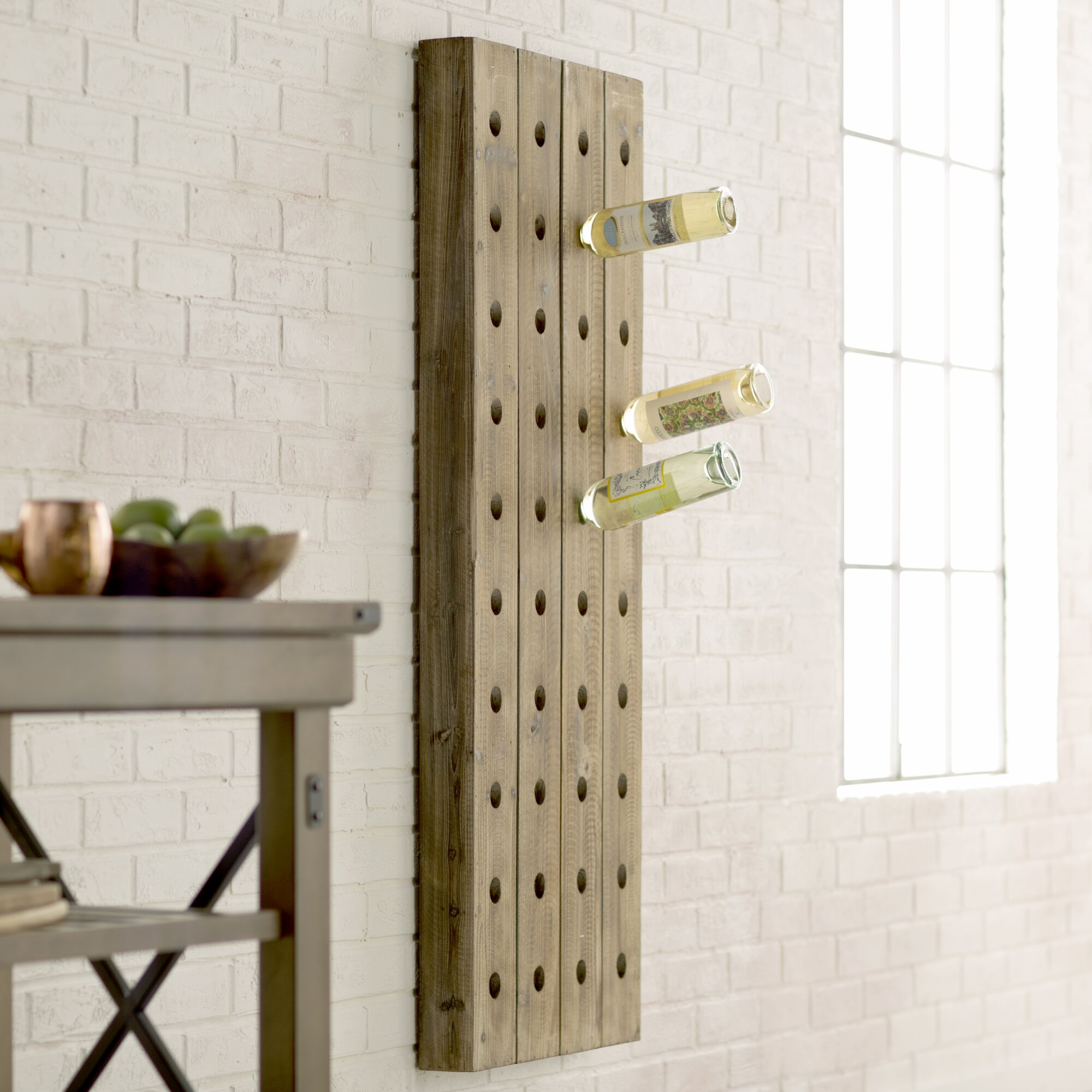 wolpert 40 bottle wall mounted wine rack