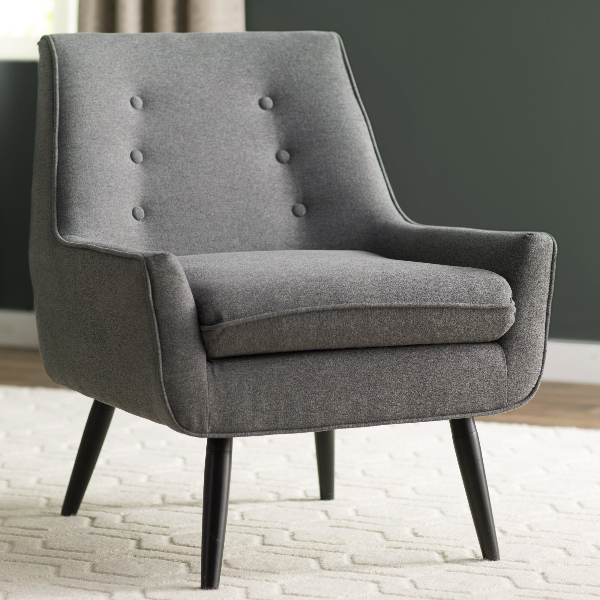 Turquoise and brown accent chair - Eytel Armchair
