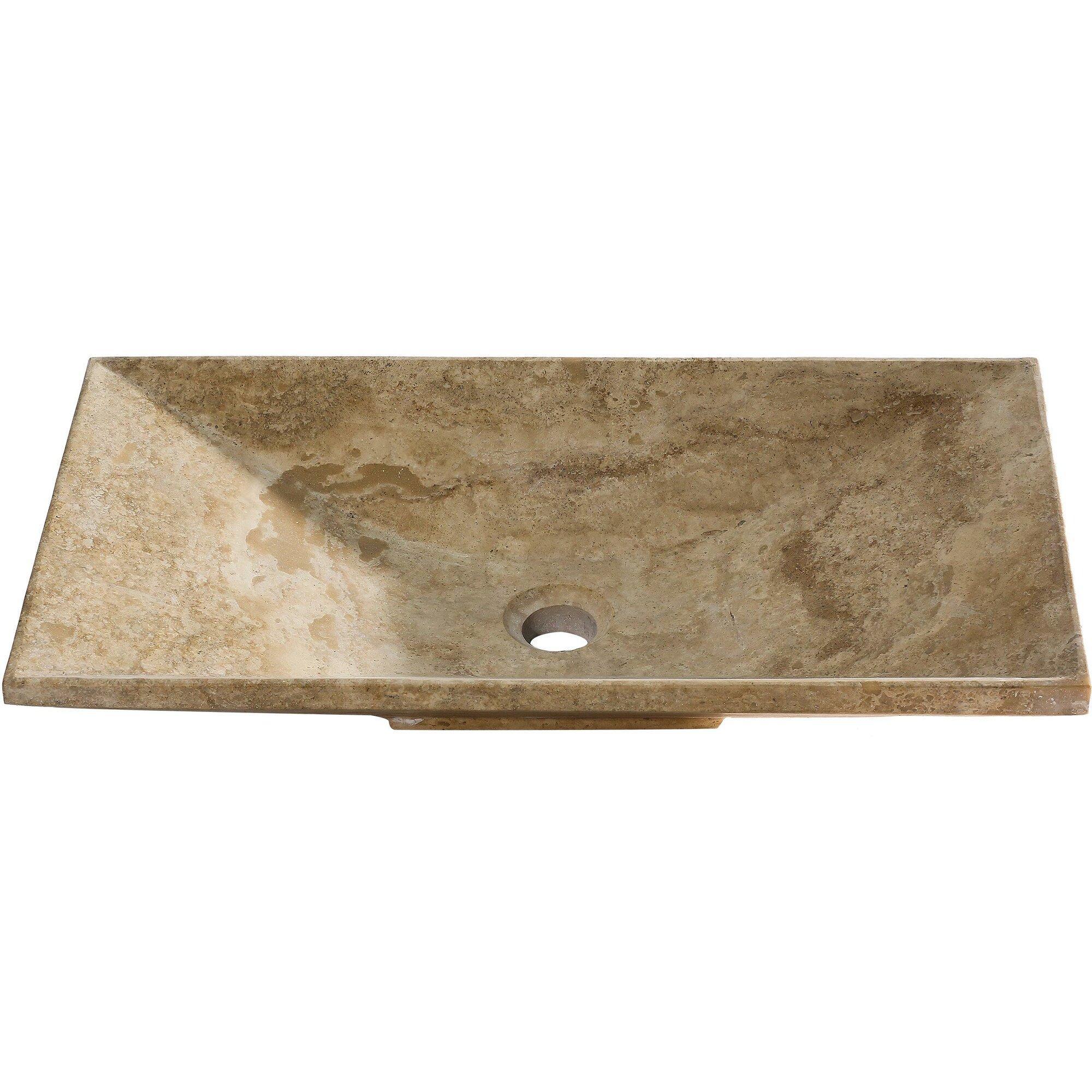 Y decor vicki rectangular vessel bathroom sink wayfair - Rectangular sinks bathroom vessel ...