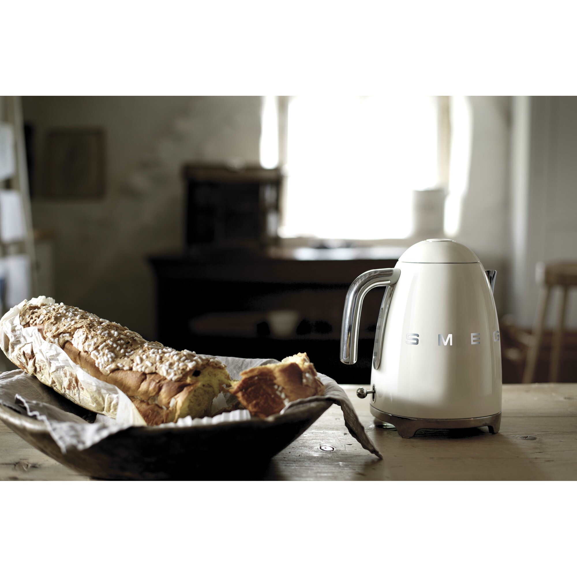 50s Style 1 75 Qt Stainless Steel Electric Tea Kettle