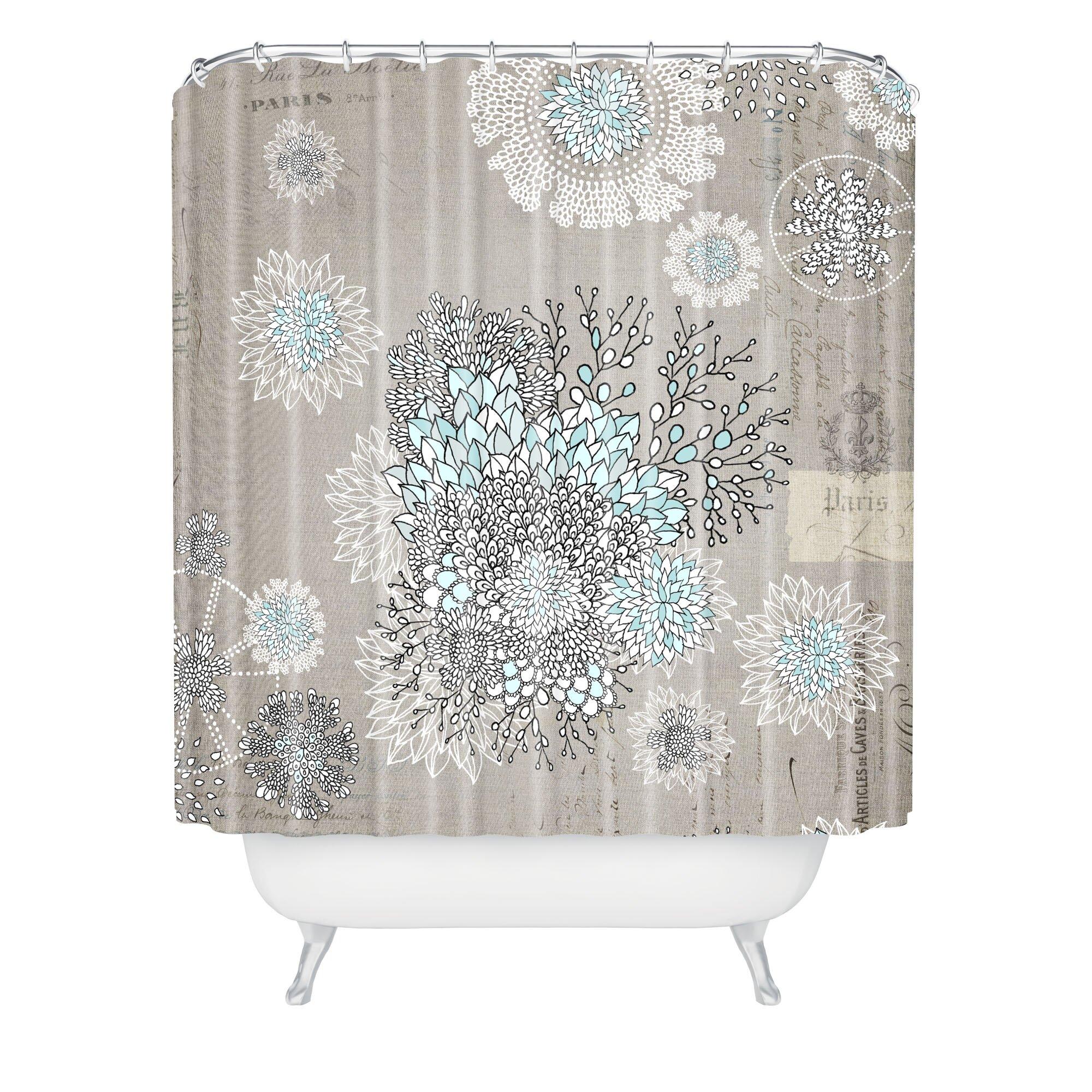 Bungalow Rose Terra Shower Curtain  Reviews Wayfair - Beige and gray shower curtain