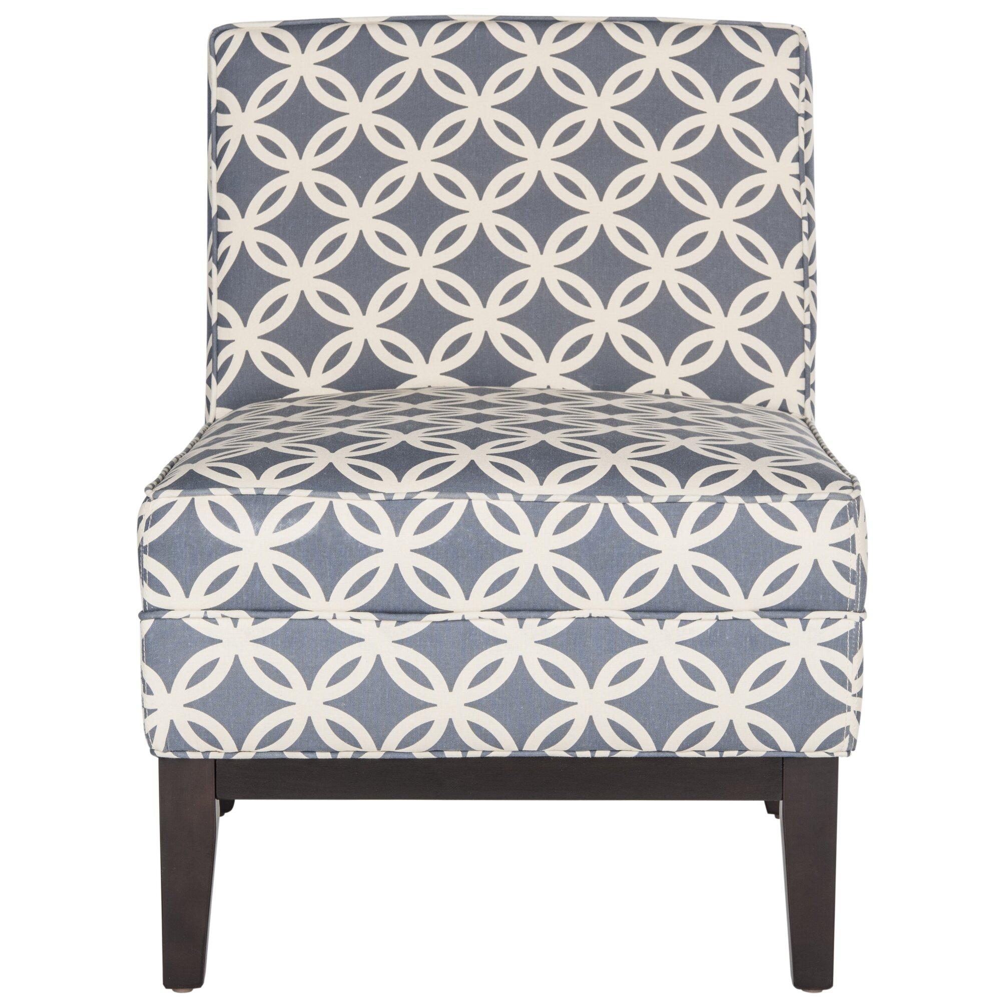 brayden studio mayberry blue slipper chair  reviews  wayfair - mayberry blue slipper chair