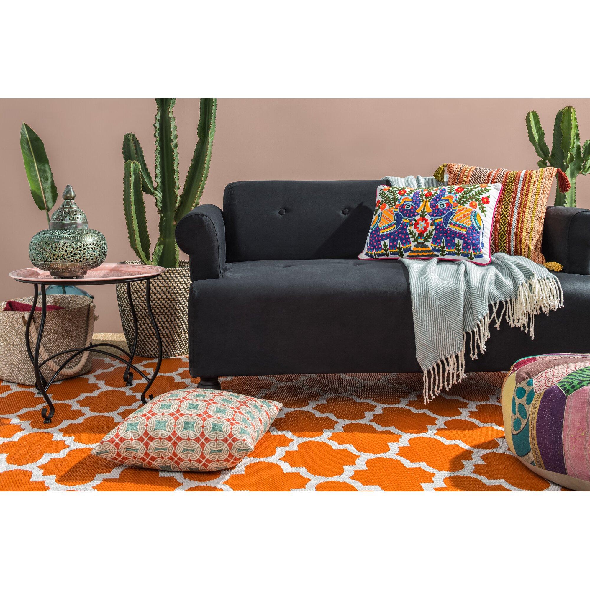 fab hab handgewebter au enteppich tangier in orange. Black Bedroom Furniture Sets. Home Design Ideas