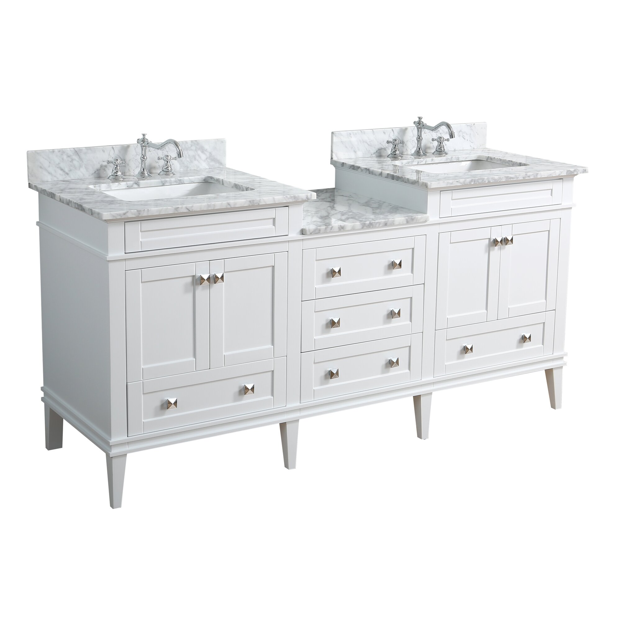 Kbc Eleanor 72 Double Bathroom Vanity Set Reviews