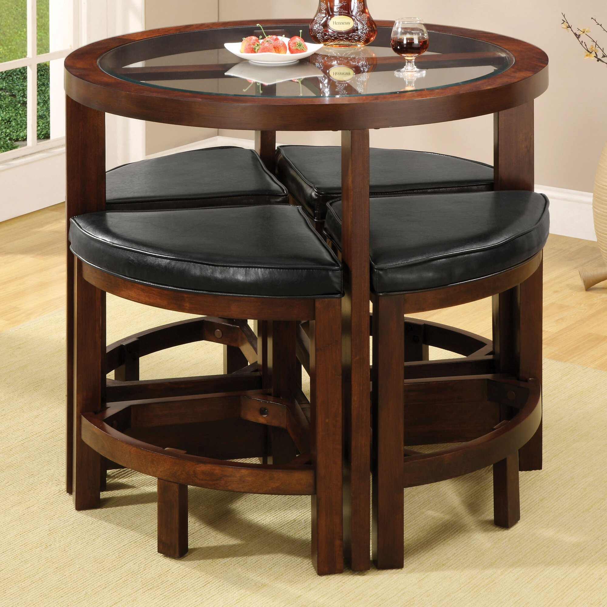 Kitchen pub table and chairs - Alchemist 5 Piece Counter Height Pub Table Set