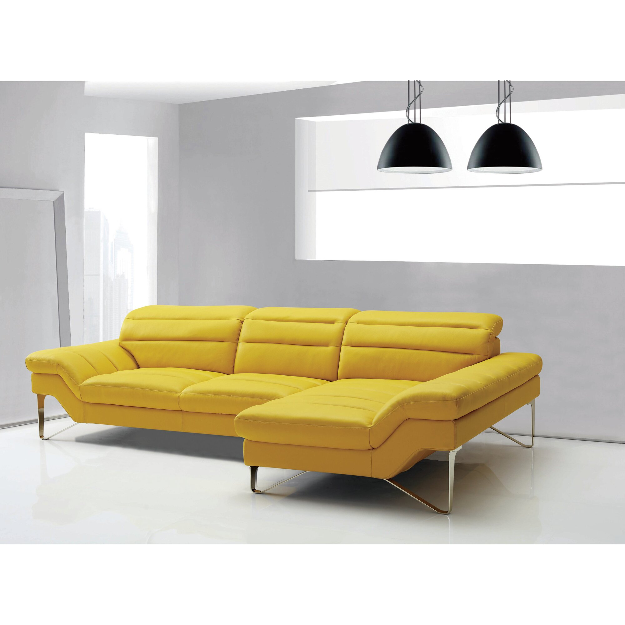 Best Yellow Leather sofa Best