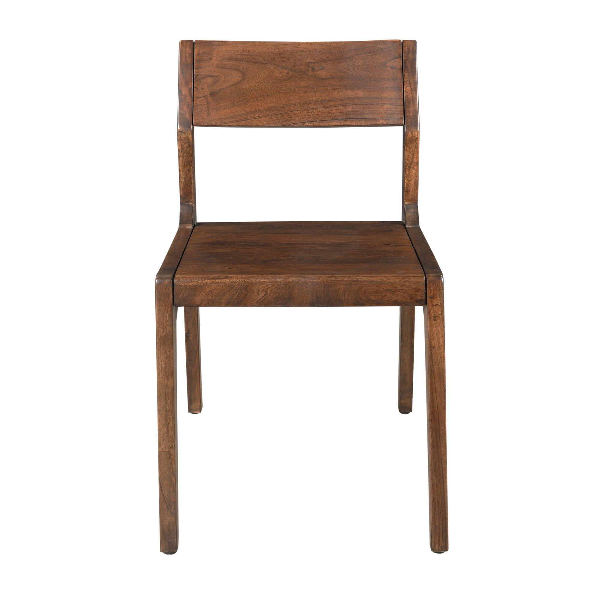Stories oak solid wood dining chair wayfair