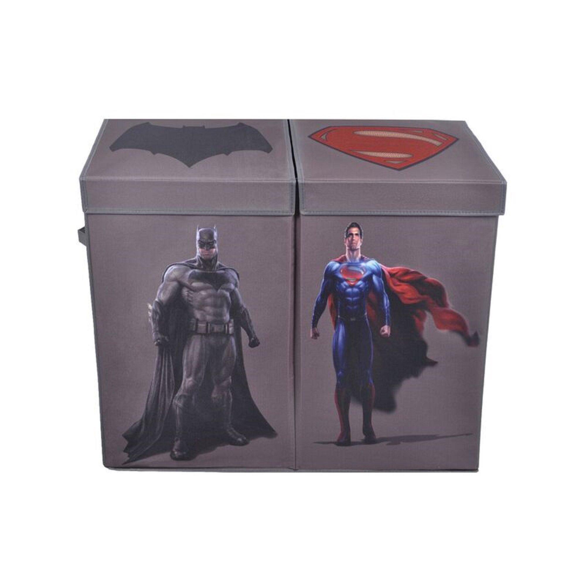Modern littles batman vs superman character folding double laundry sorter reviews wayfair - Batman laundry hamper ...