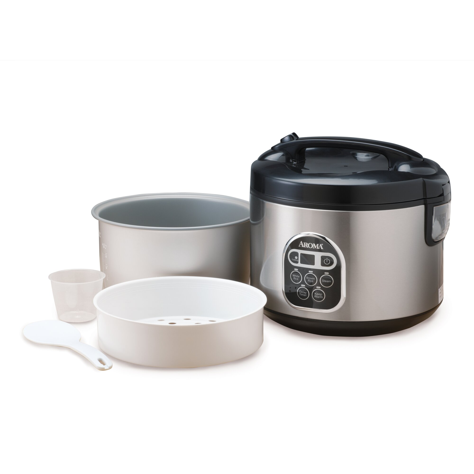 20cup Stainless Steel Digital Slow Cooker, Food Steamer And Rice Cooker How  To Cook Quinoa