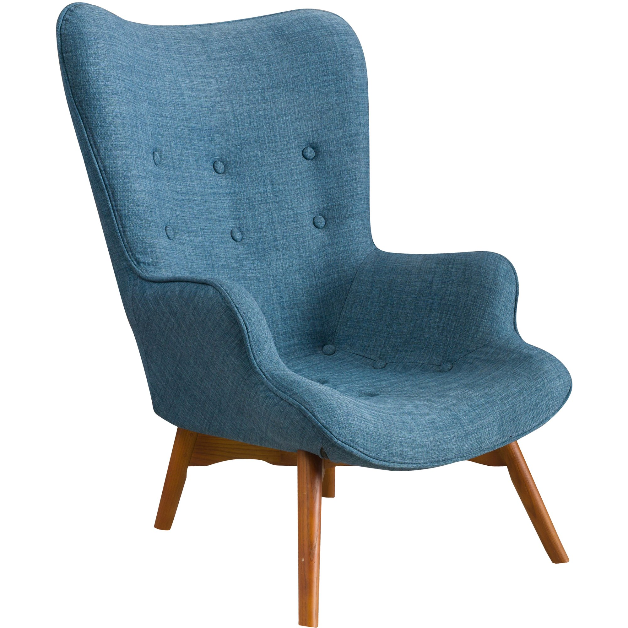 Teal wingback chair - Canyon Vista Mid Century Wingback Chair