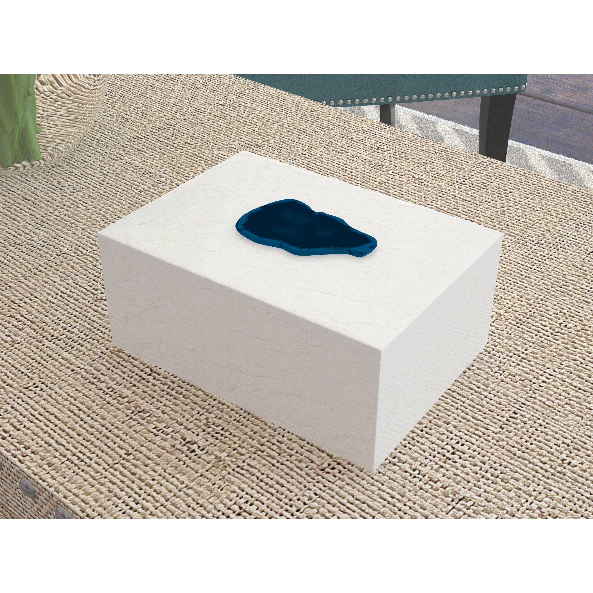 marble decorative box with agate - Decorative Box