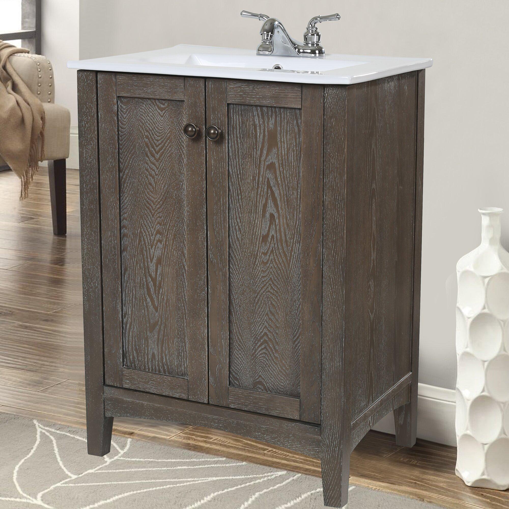 22 inch wide bathroom vanity - Jeremiah 24 Single Bathroom Vanity Set