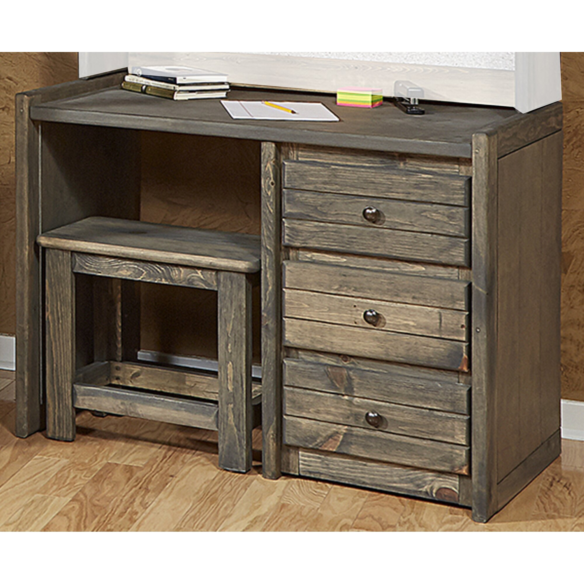 Chelsea home furniture driftwood student desk and chair - Student desk and chair set ...