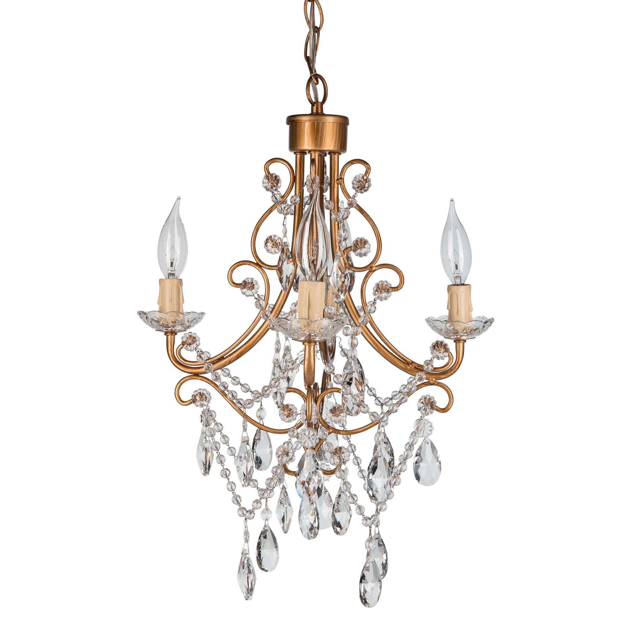 Yvette Crystal Chandelier: House Of Hampton Sherwood Crystal 4-Light Crystal