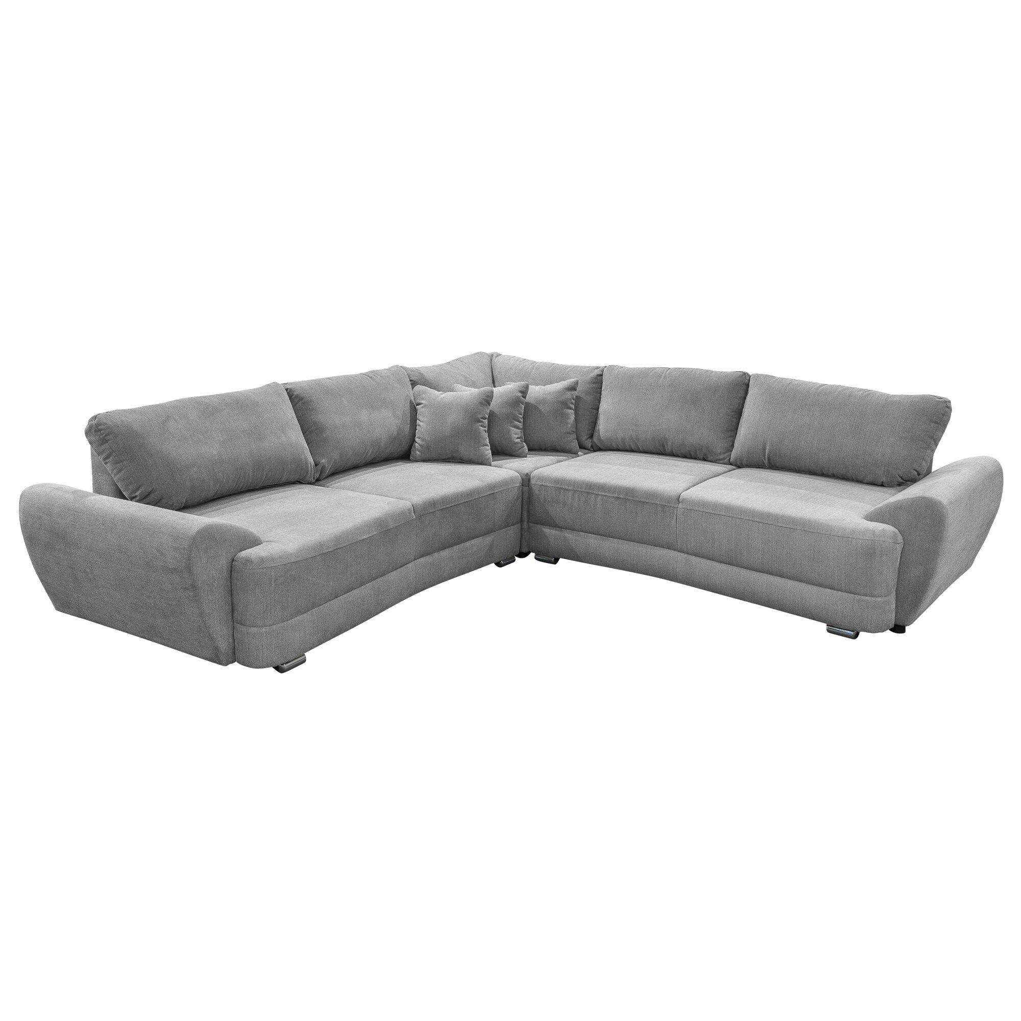benformato 6 sitzer ecksofa basso mit bettfunktion. Black Bedroom Furniture Sets. Home Design Ideas