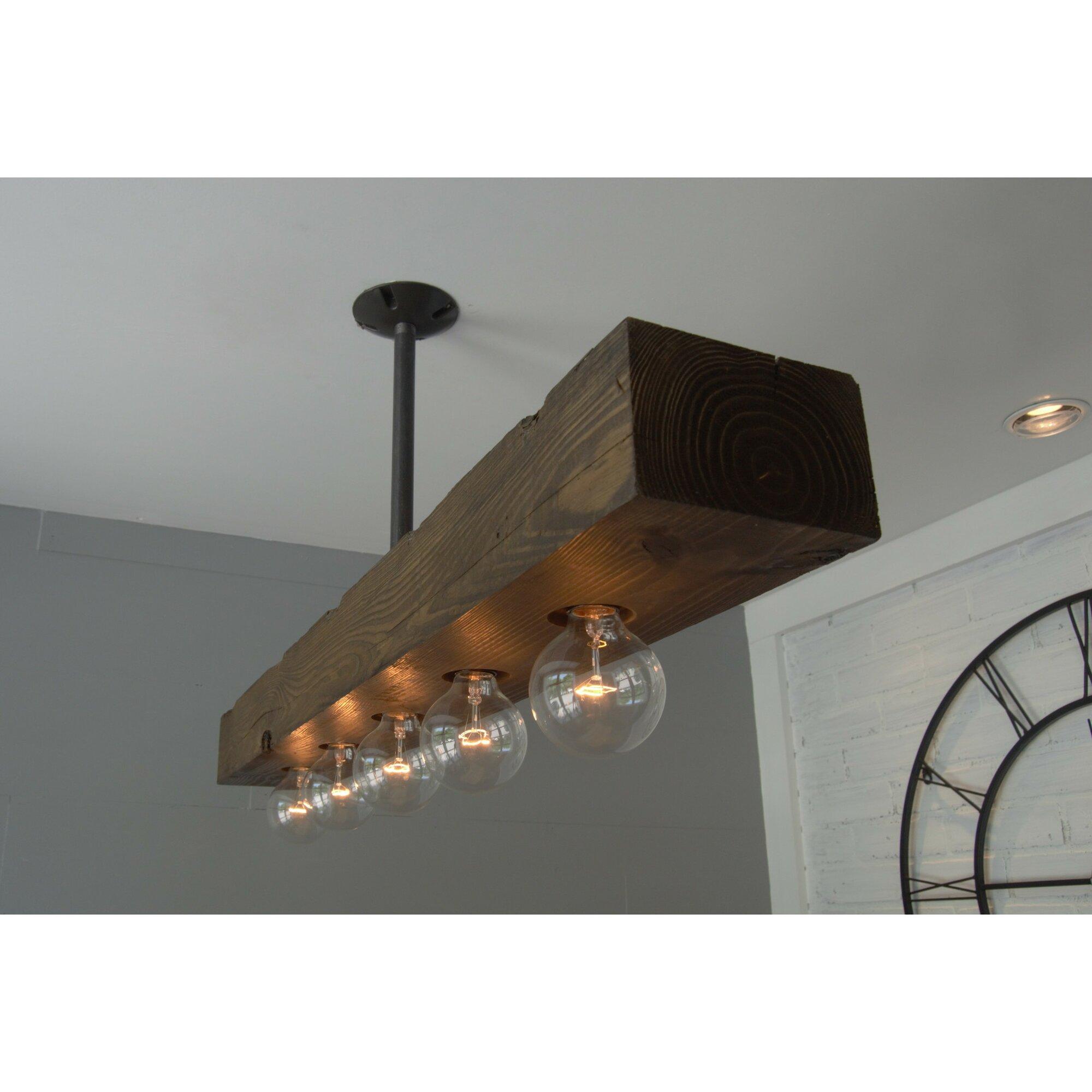 Recessed Wood Beam  Light Kitchen Island Pendant