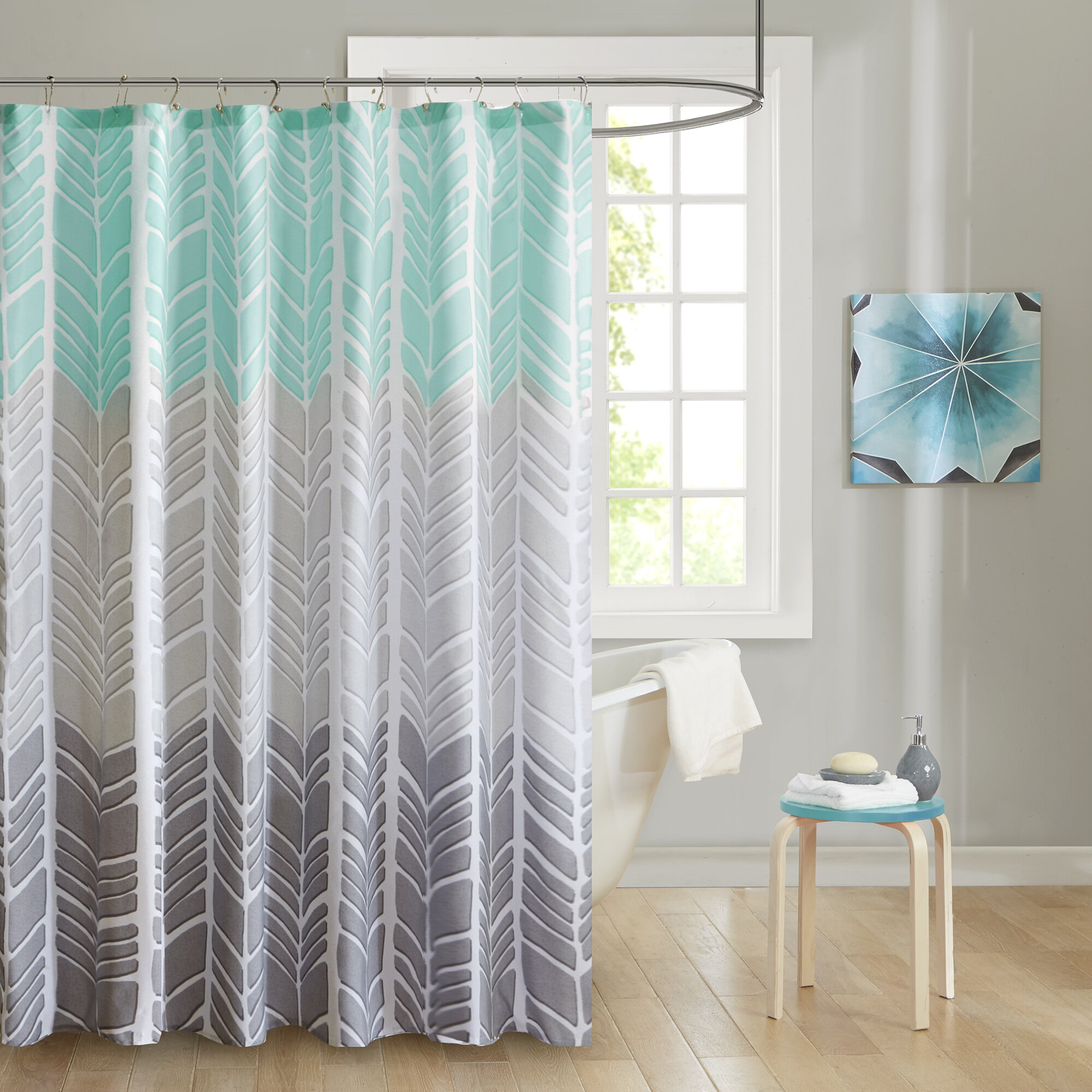 Bamboo shower curtain - Cherie Printed Shower Curtain
