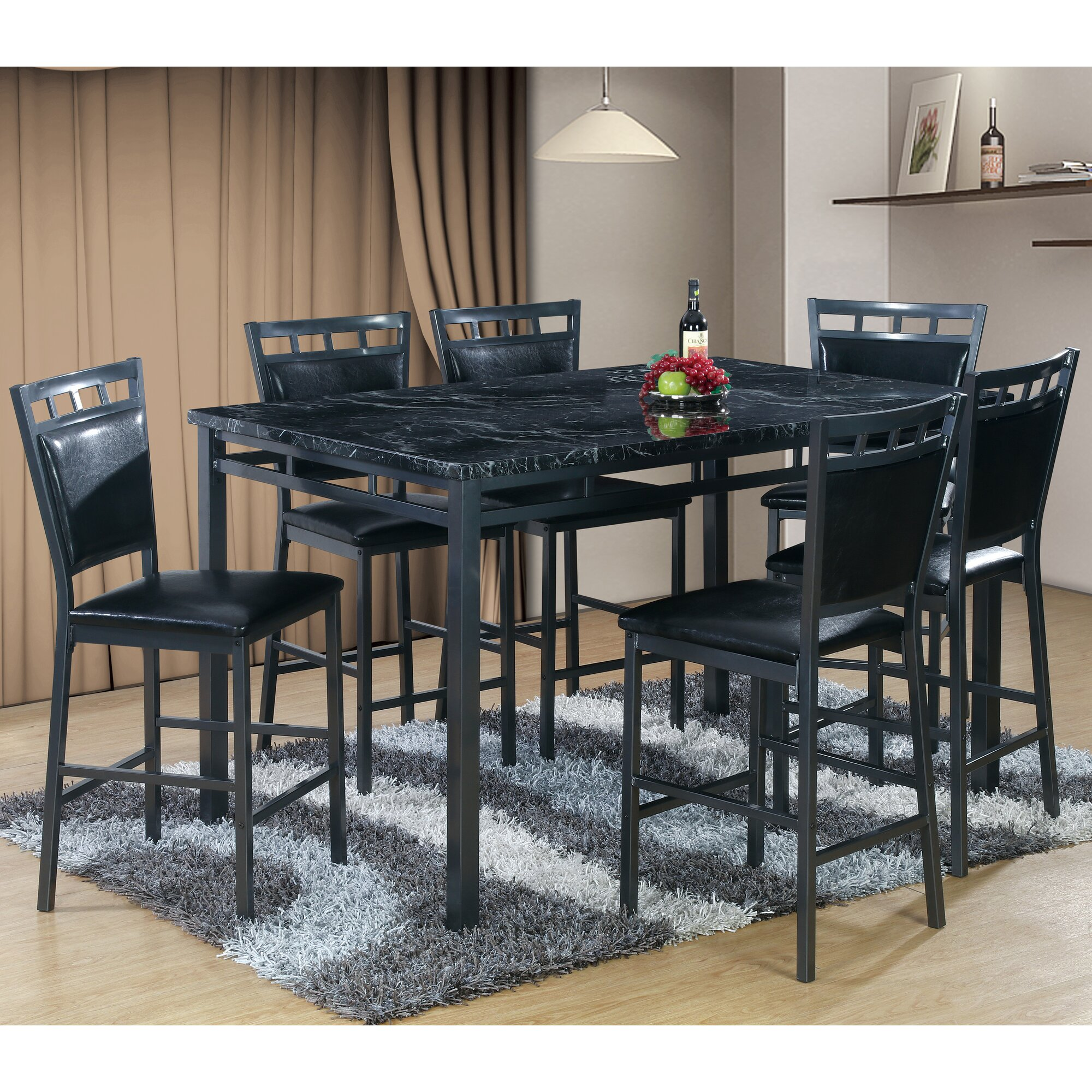 Best Quality Furniture  Piece Counter Height Dining Table Set - Best quality dining room furniture