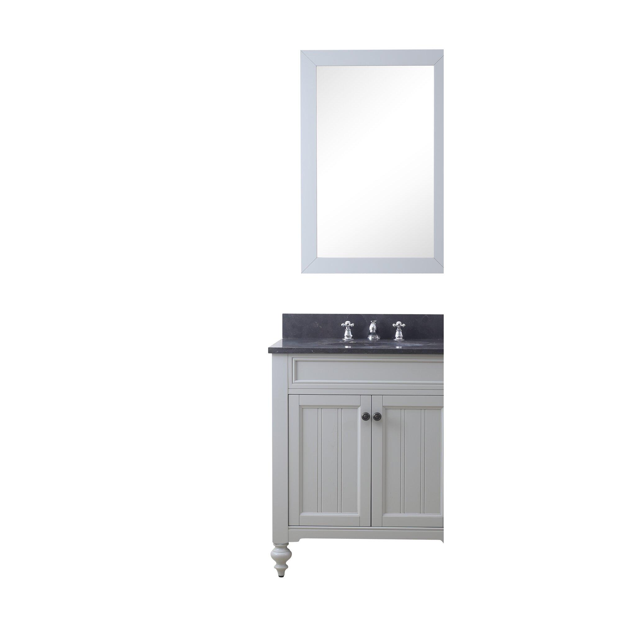 "Bathroom Vanities Quincy Ma latimer 30"" single bathroom vanity set with mirror and faucet"