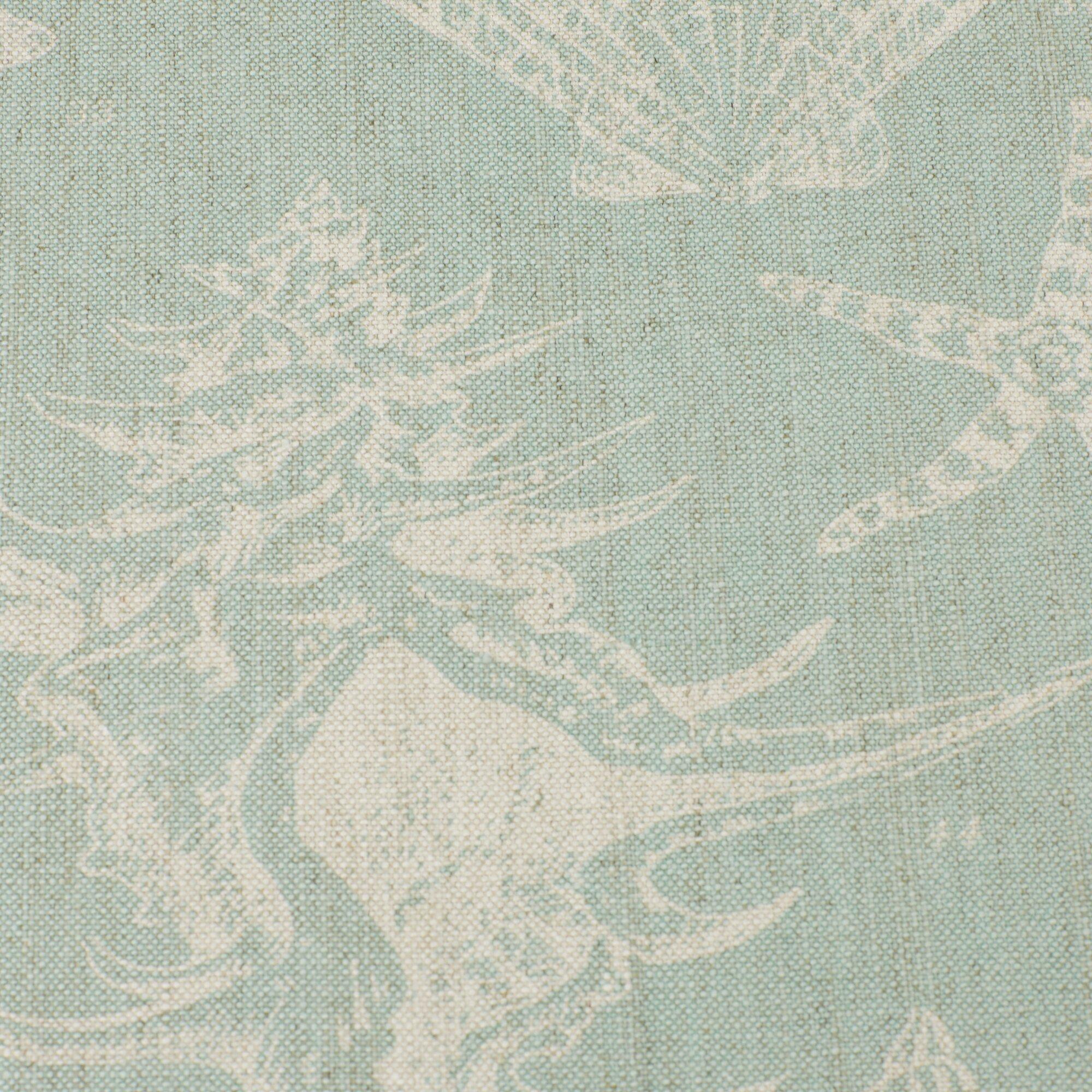123 Creations Coastal Seashells Linen Upholstered Vanity