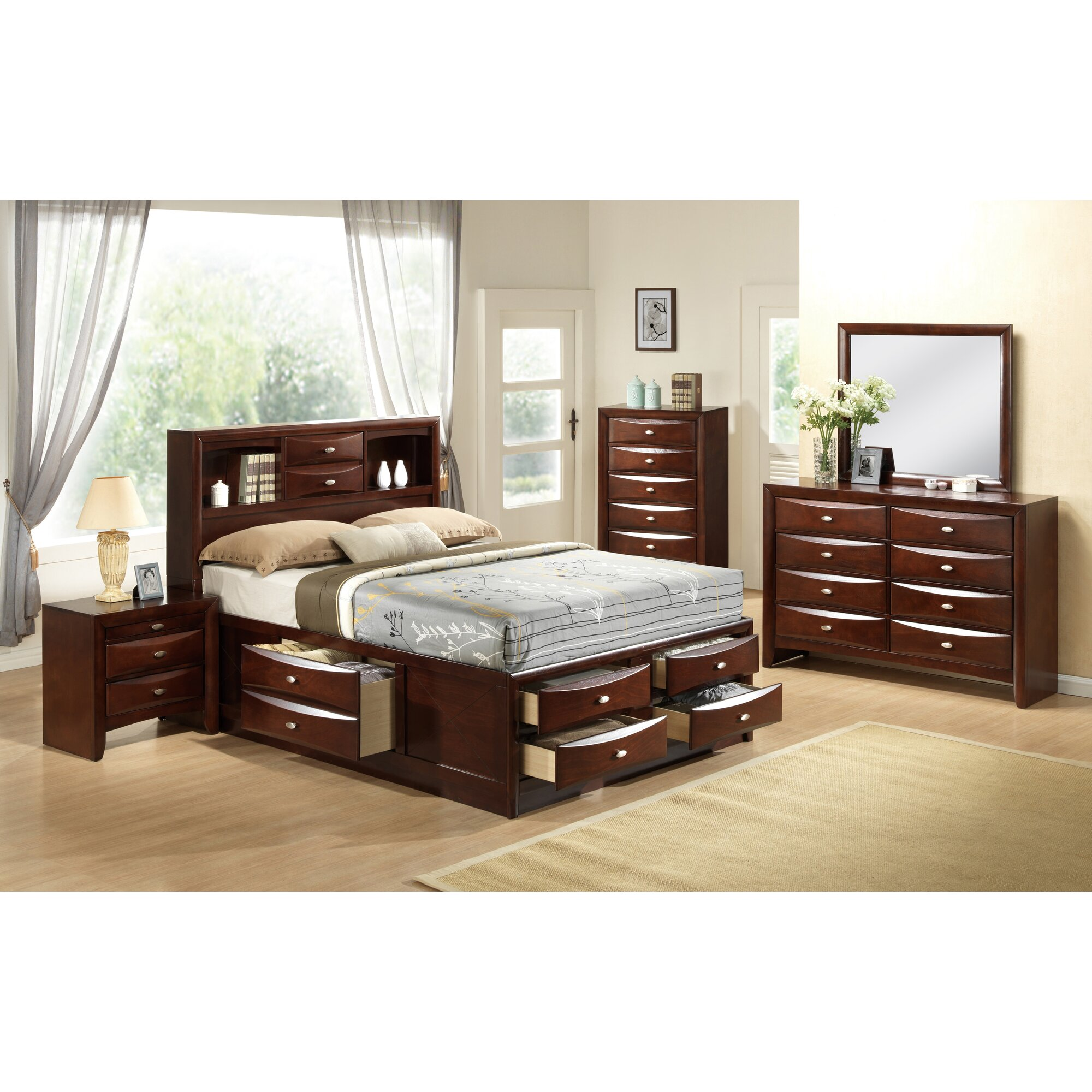 Linda Platform Customizable Bedroom Set
