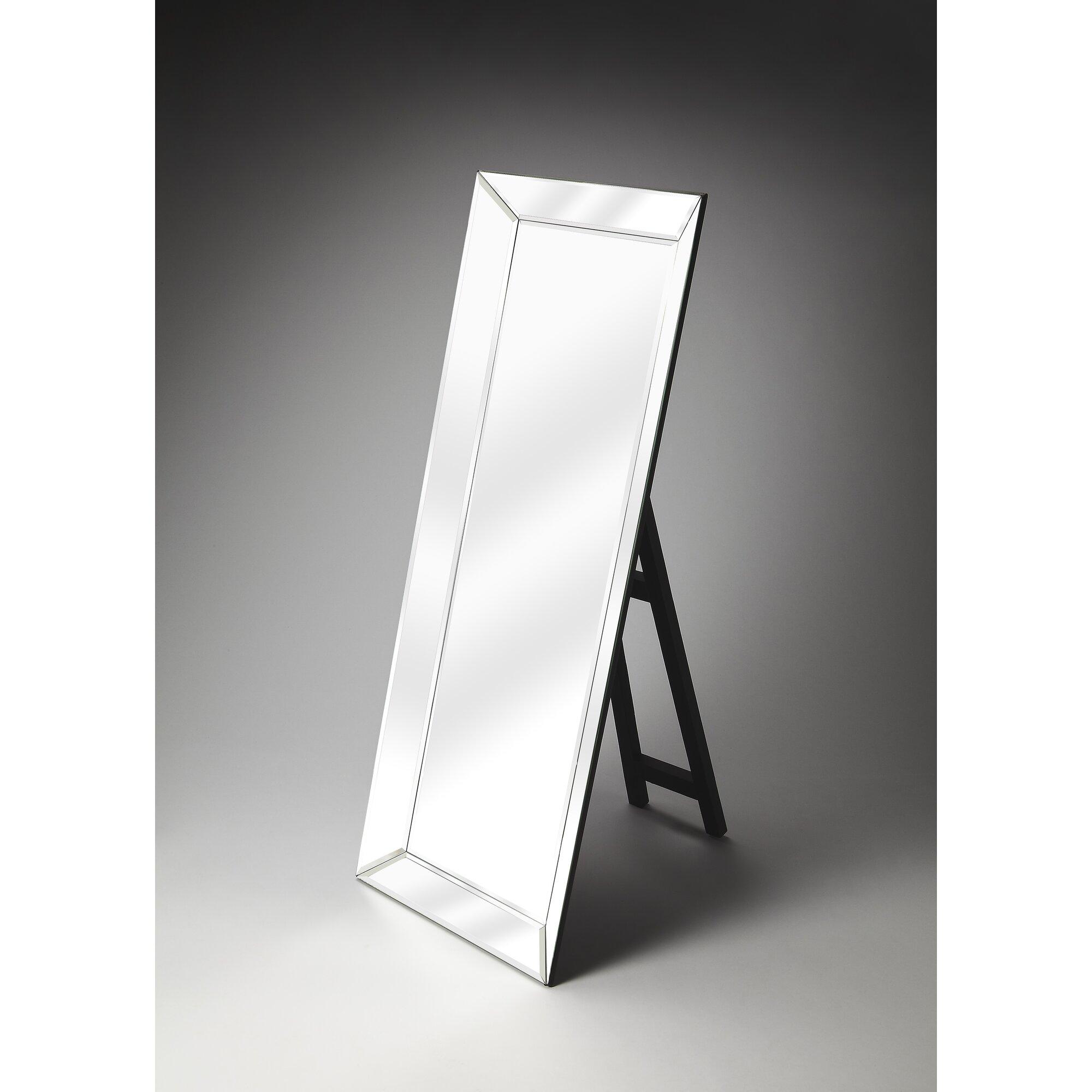modern floor mirrors - wade logan modern floor standing mirror reviews wayfair