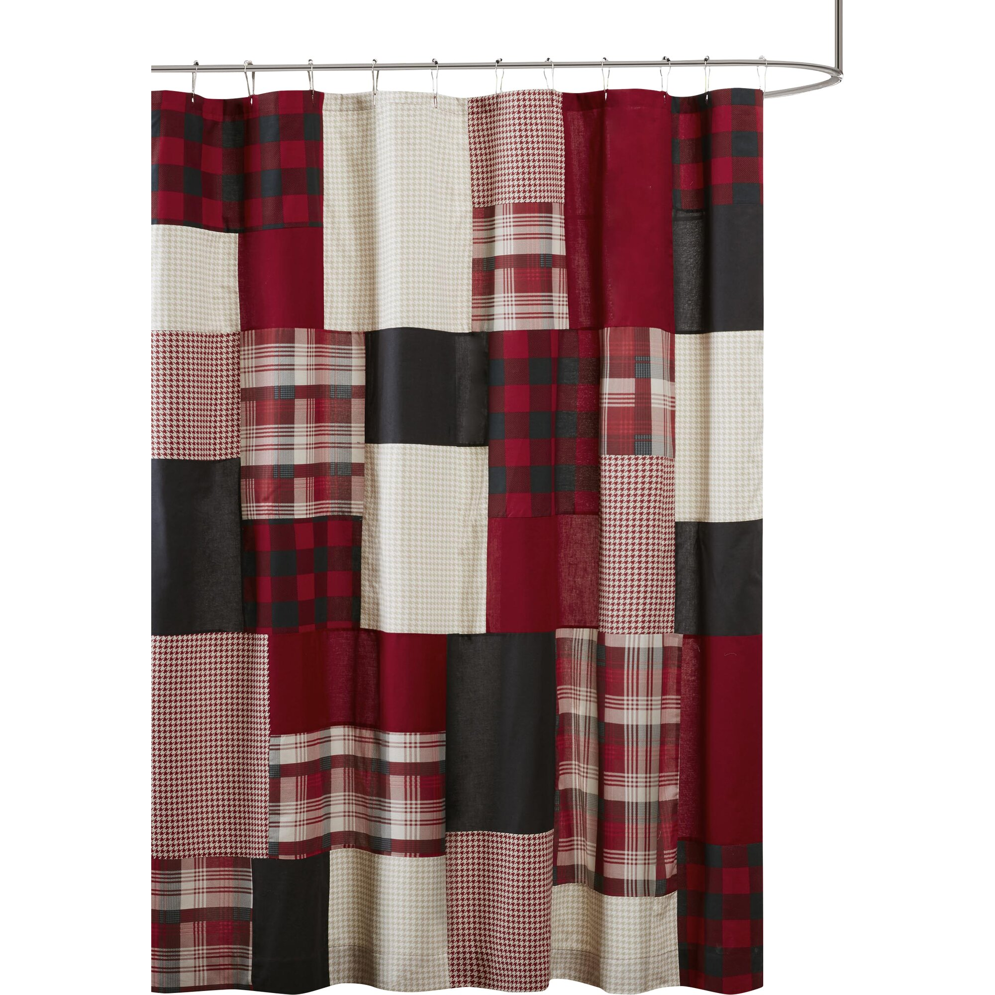 winter hills 100 cotton shower curtain