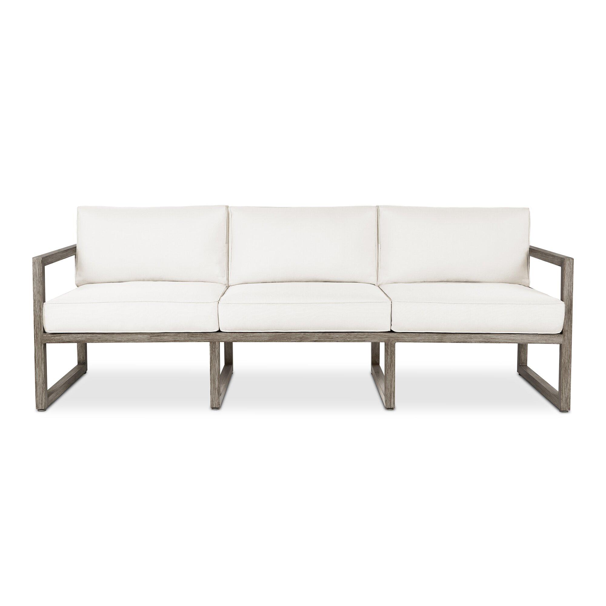 Modern outdoor sofa - Monaco 3 Seat Sofa With Cushion