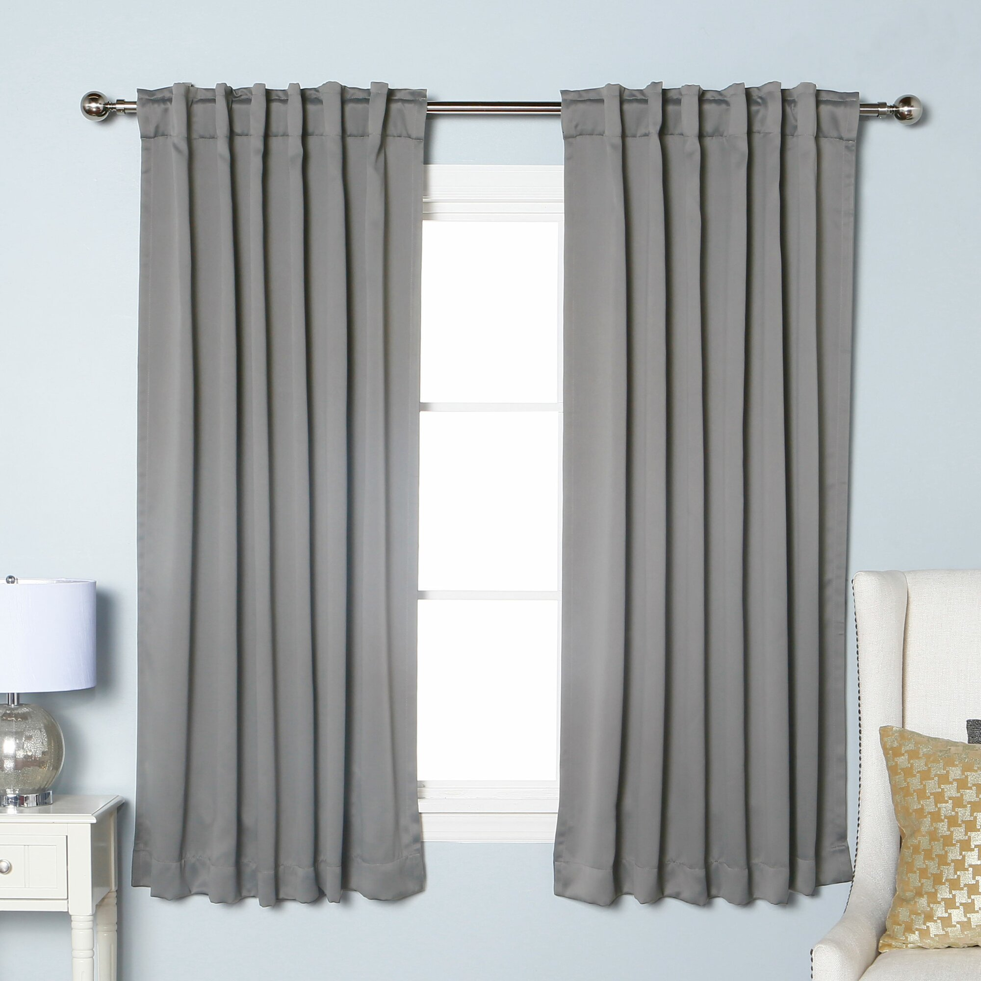 Best Home Fashion Inc Solid Blackout Thermal Rod Pocket Single Curtain Panel Reviews