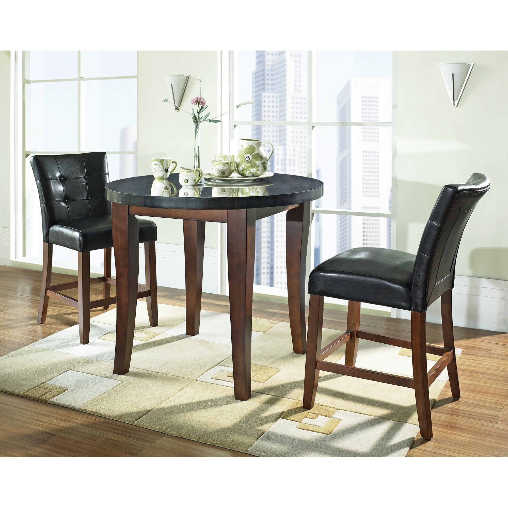 darby home co tilman  piece counter height dining set  reviews  - tilman  piece counter height dining set