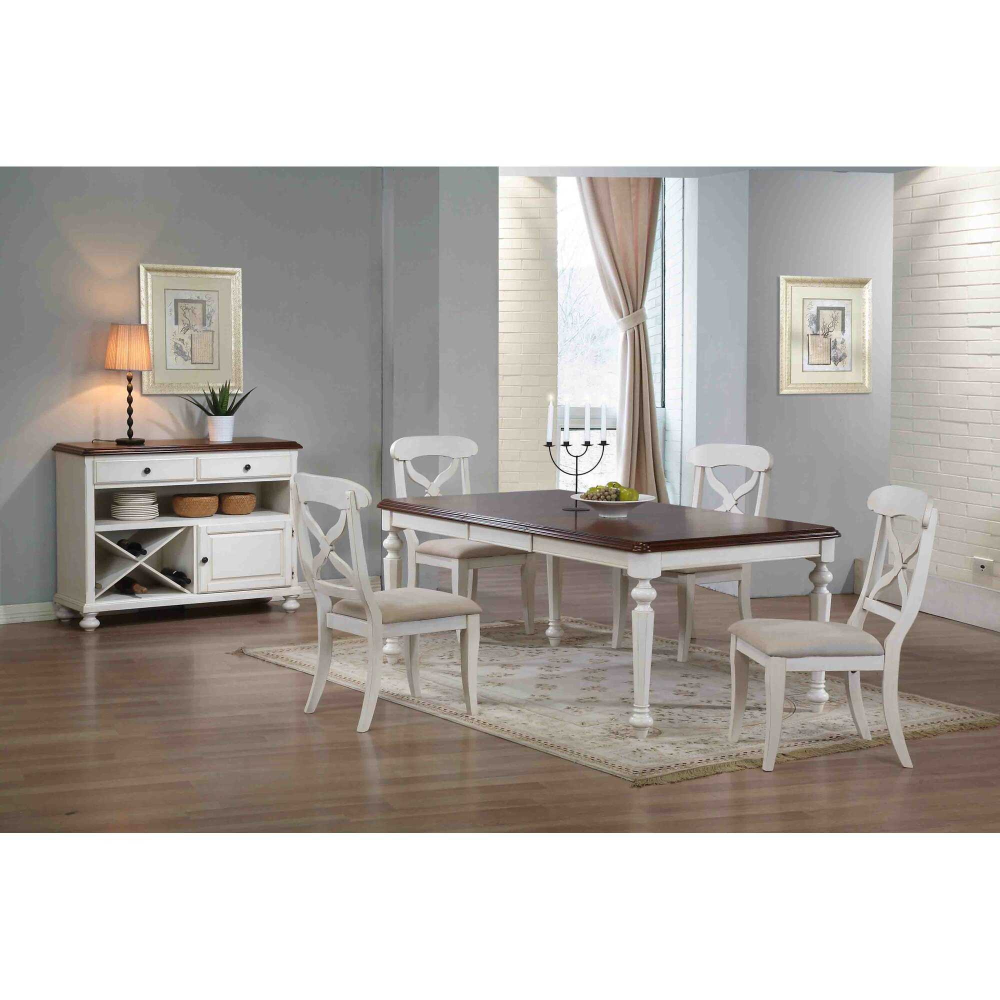 Butterfly kitchen table and chairs - Lockwood Butterfly Leaf 6 Piece Dining Set