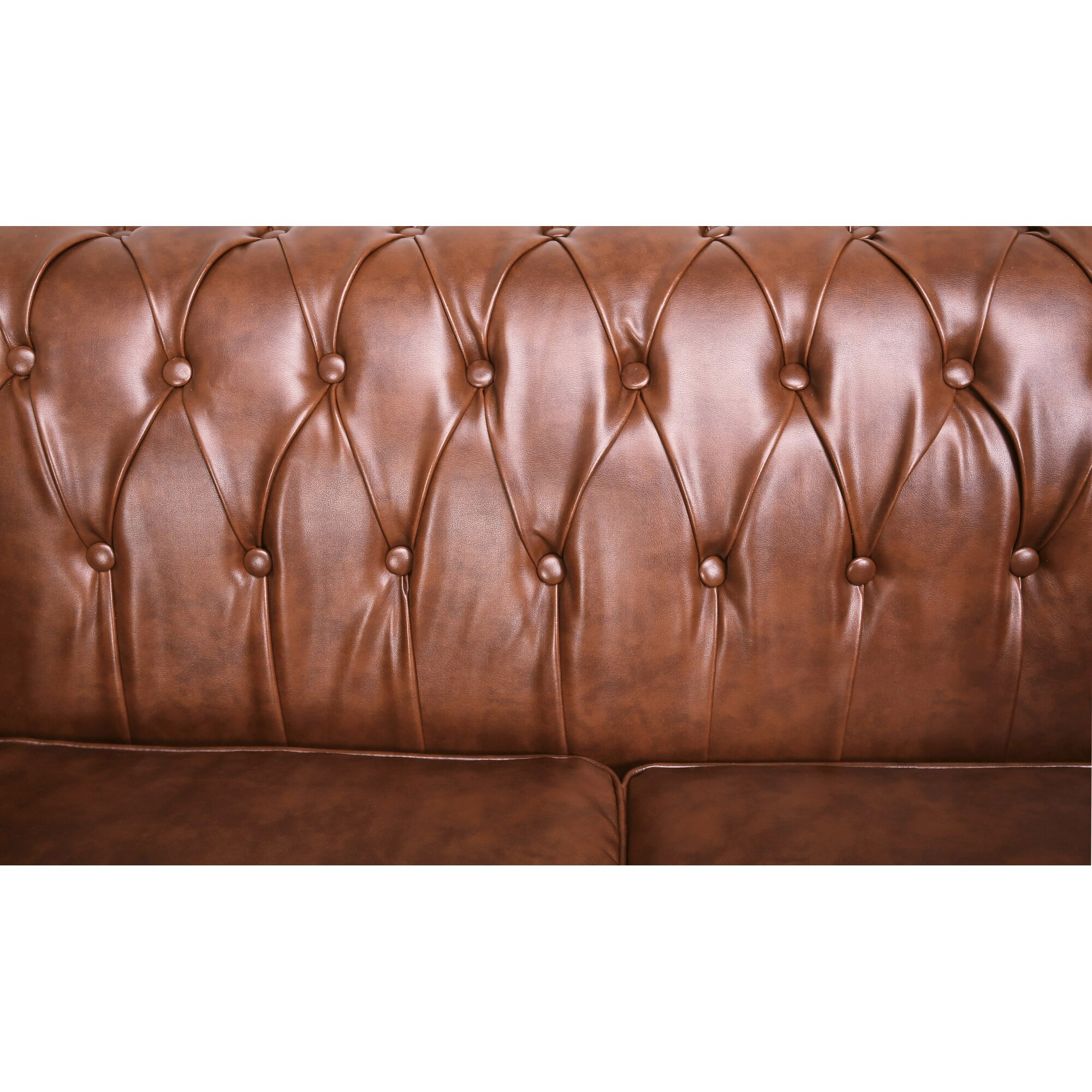 Laurel Foundry Modern Farmhouse Arline Button Tufted Chesterfield Loveseat Reviews