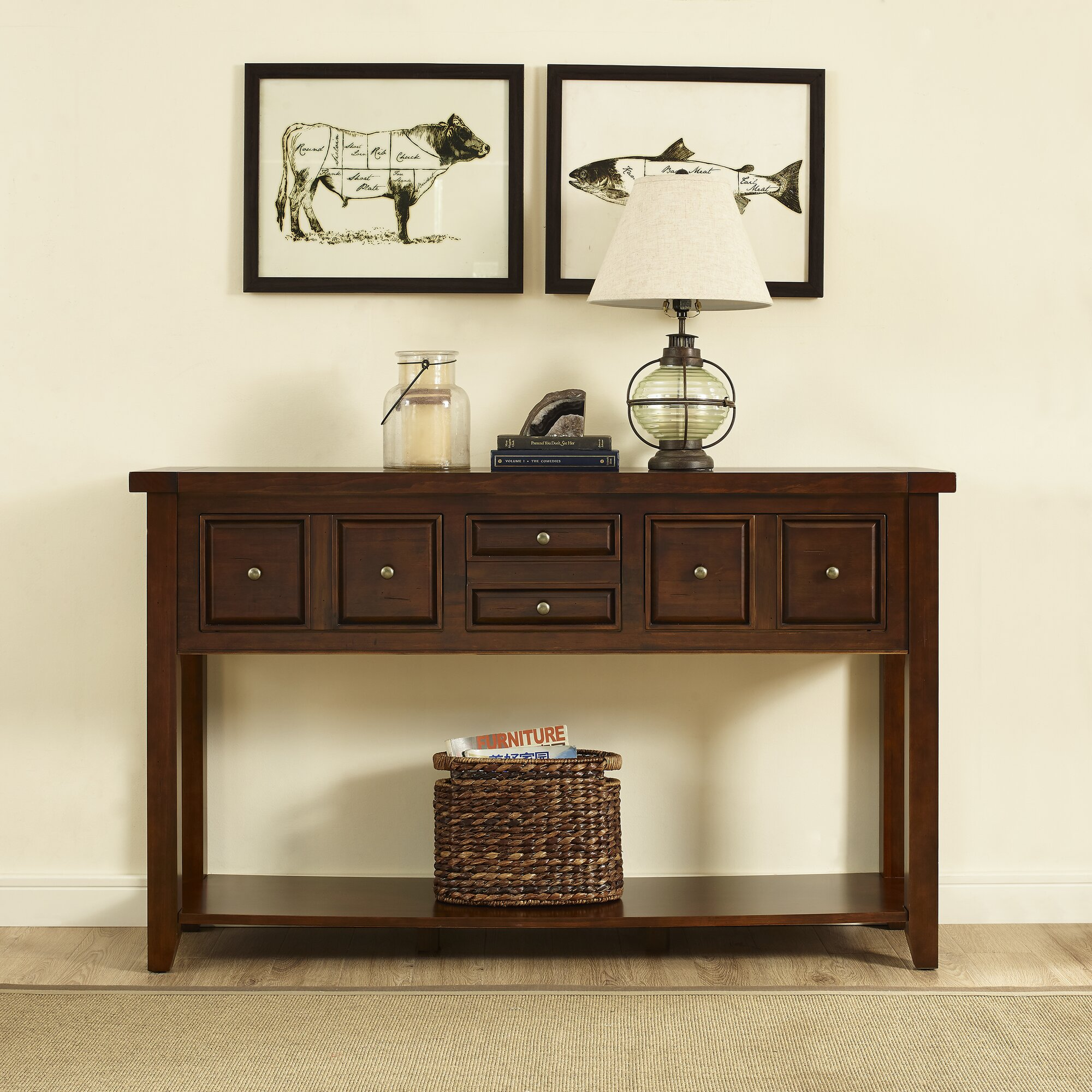 Ordway console table reviews birch lane for 12 deep console table