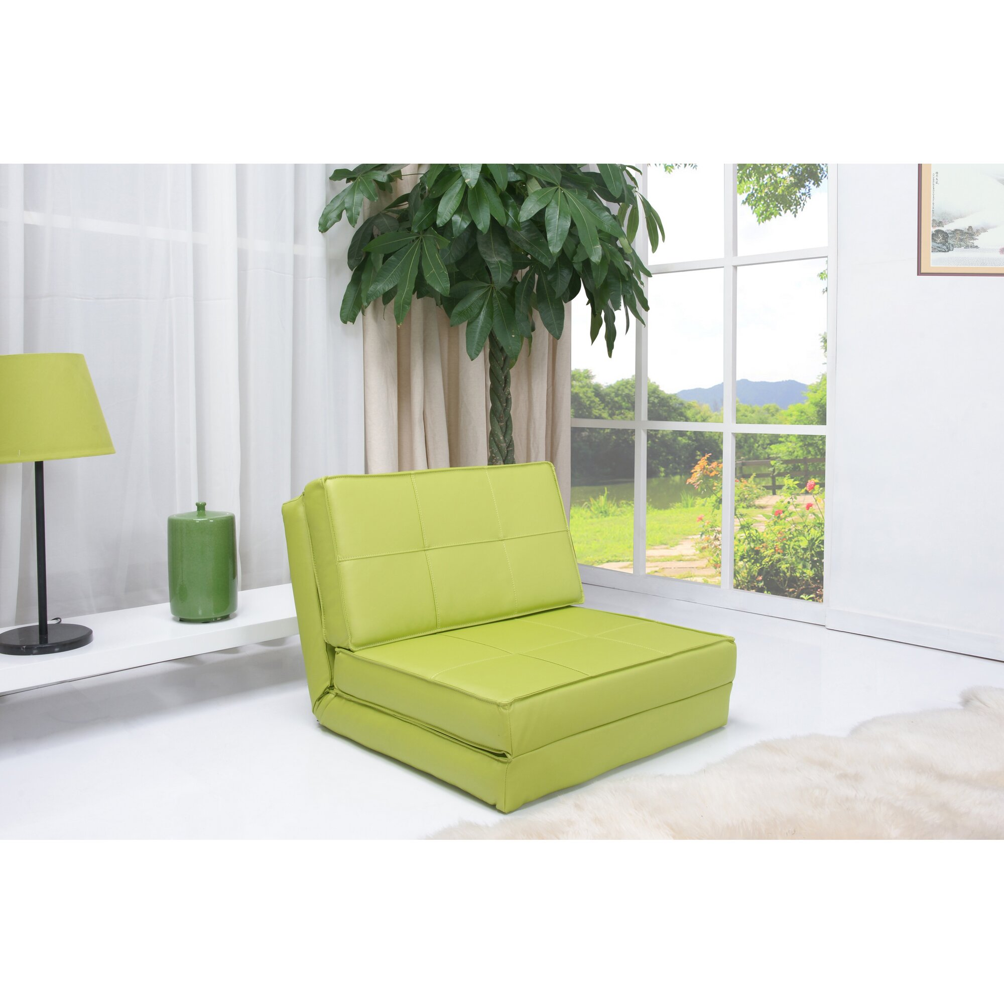 zipcode design peter convertible chair bed reviews wayfair. Black Bedroom Furniture Sets. Home Design Ideas