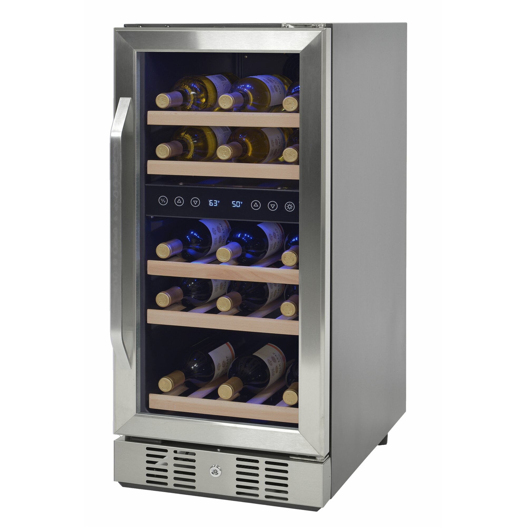 dual zone wine cooler newair 29 bottle dual zone built in wine cooler amp reviews 31169