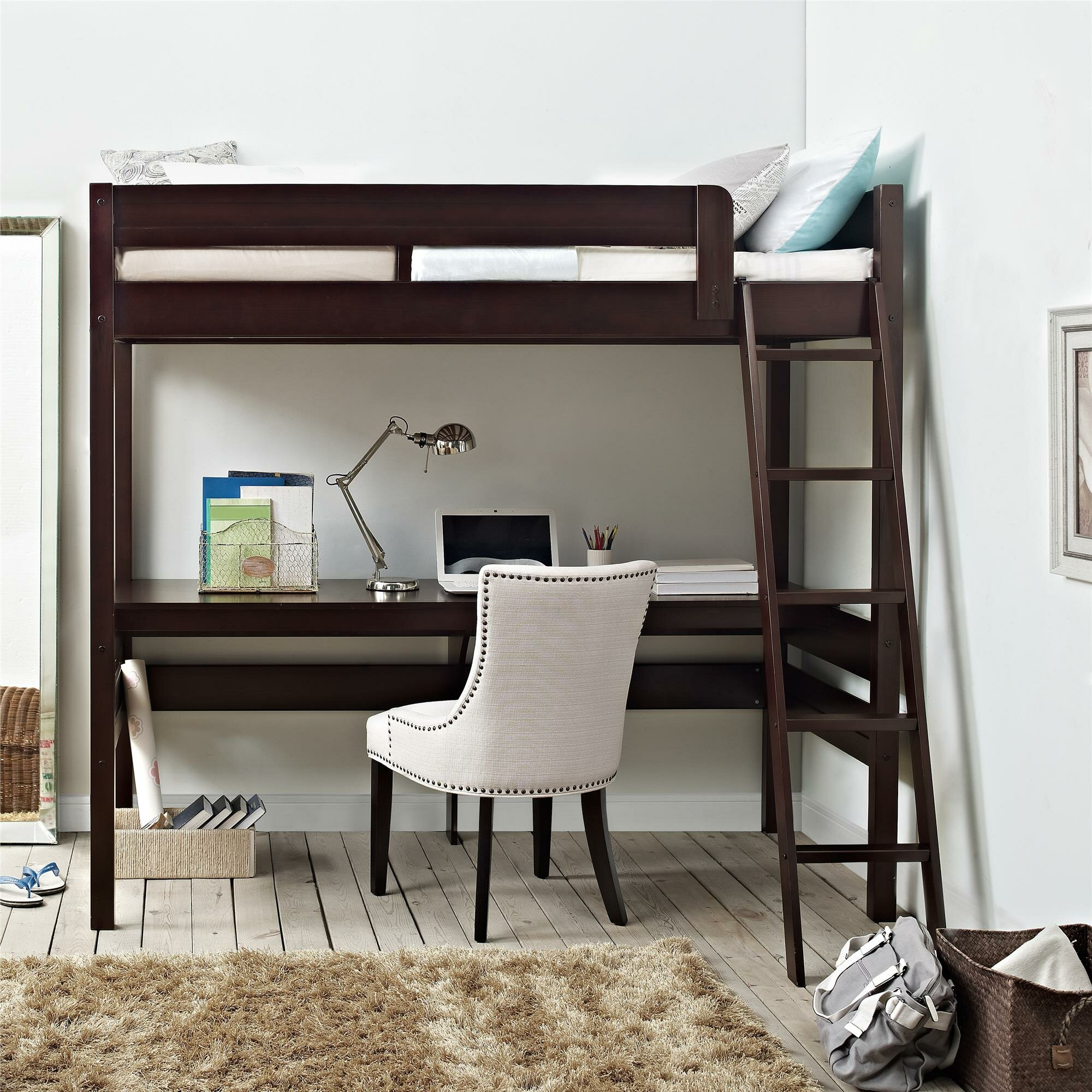 Alfred Twin Loft Bed With Desk Amp Reviews Joss Amp Main