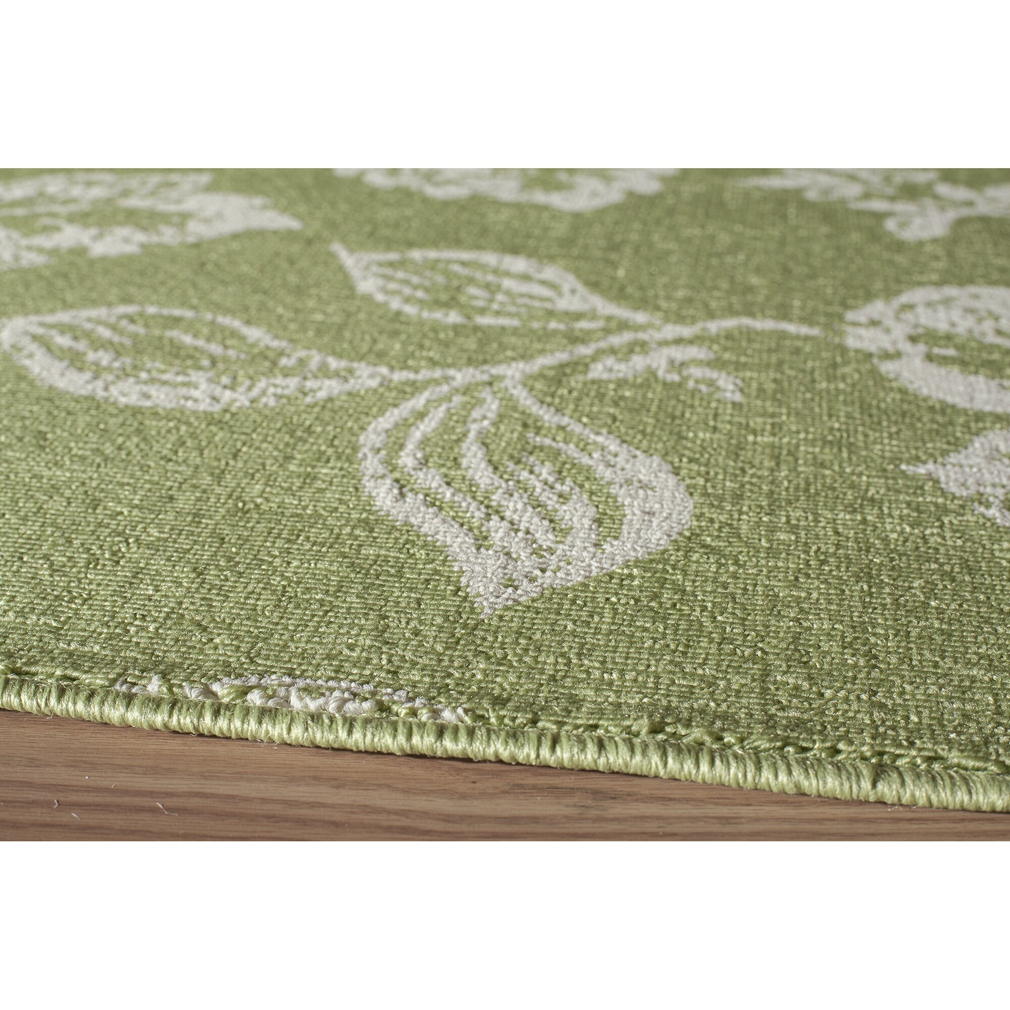 Ophelia co kofi green white indoor outdoor area rug for Indoor outdoor carpet green