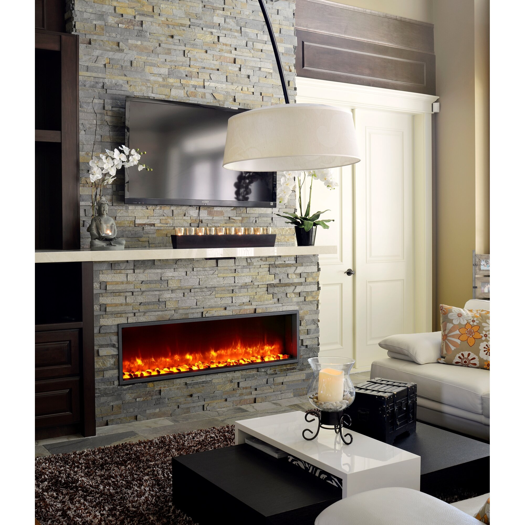 Bathroom Faux Paint Ideas Dynasty 55 Quot Built In Led Wall Mount Electric Fireplace