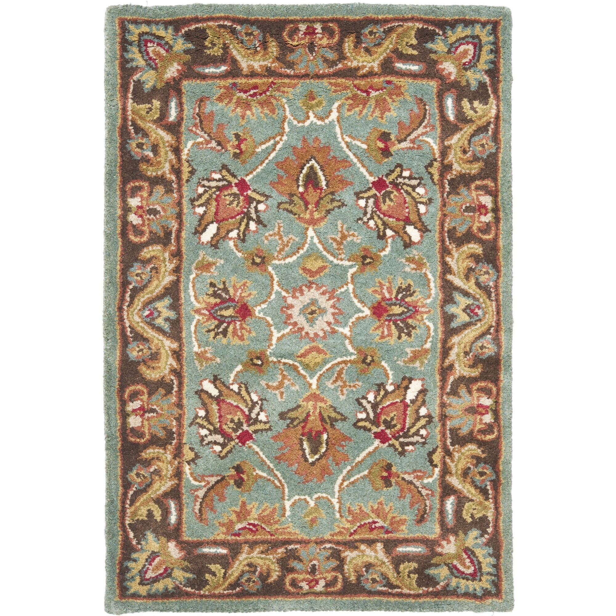 Charlton Home Cranmore Hand-Tufted Blue/Brown Area Rug
