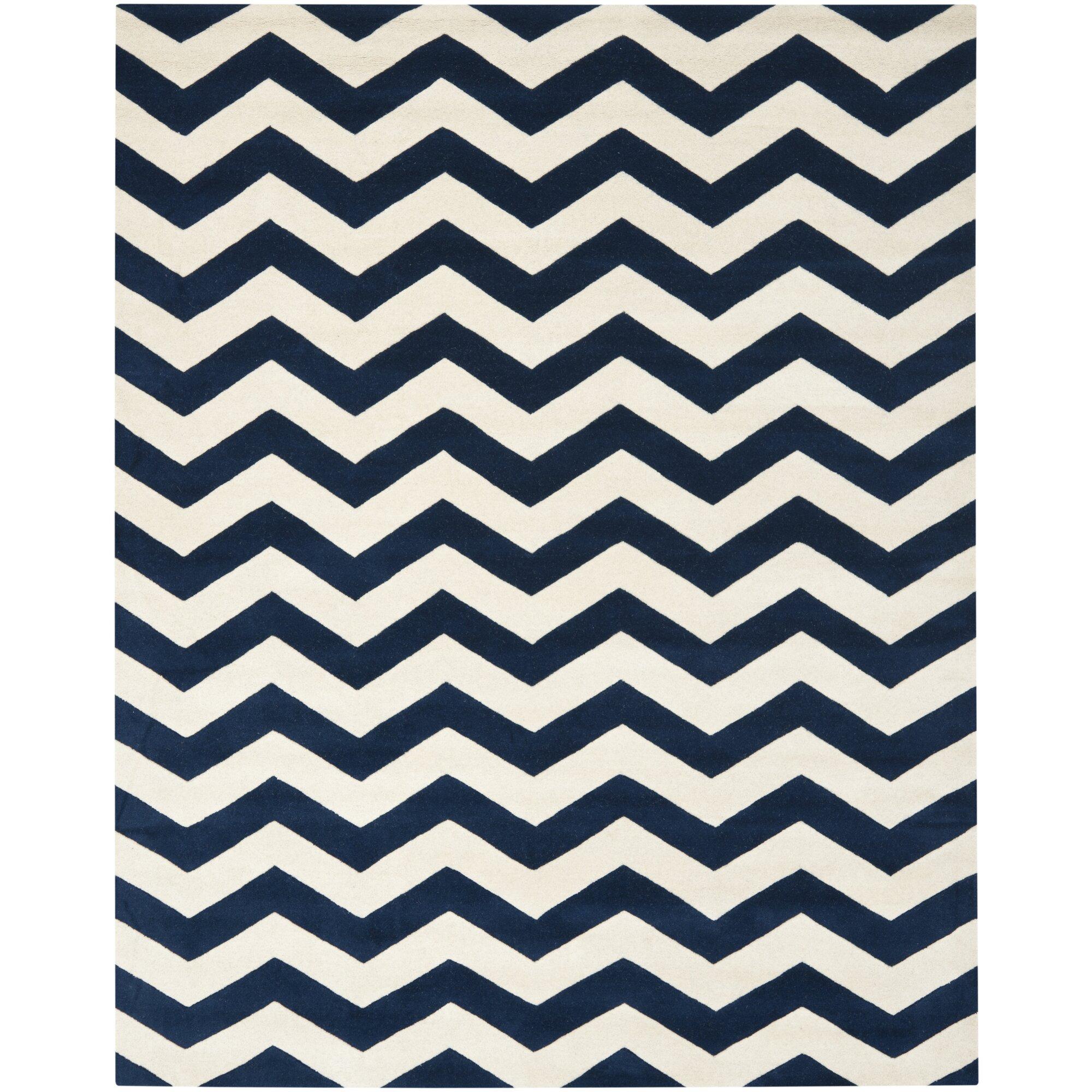 blue chevron area rug  rugs ideas - chevron area rugs