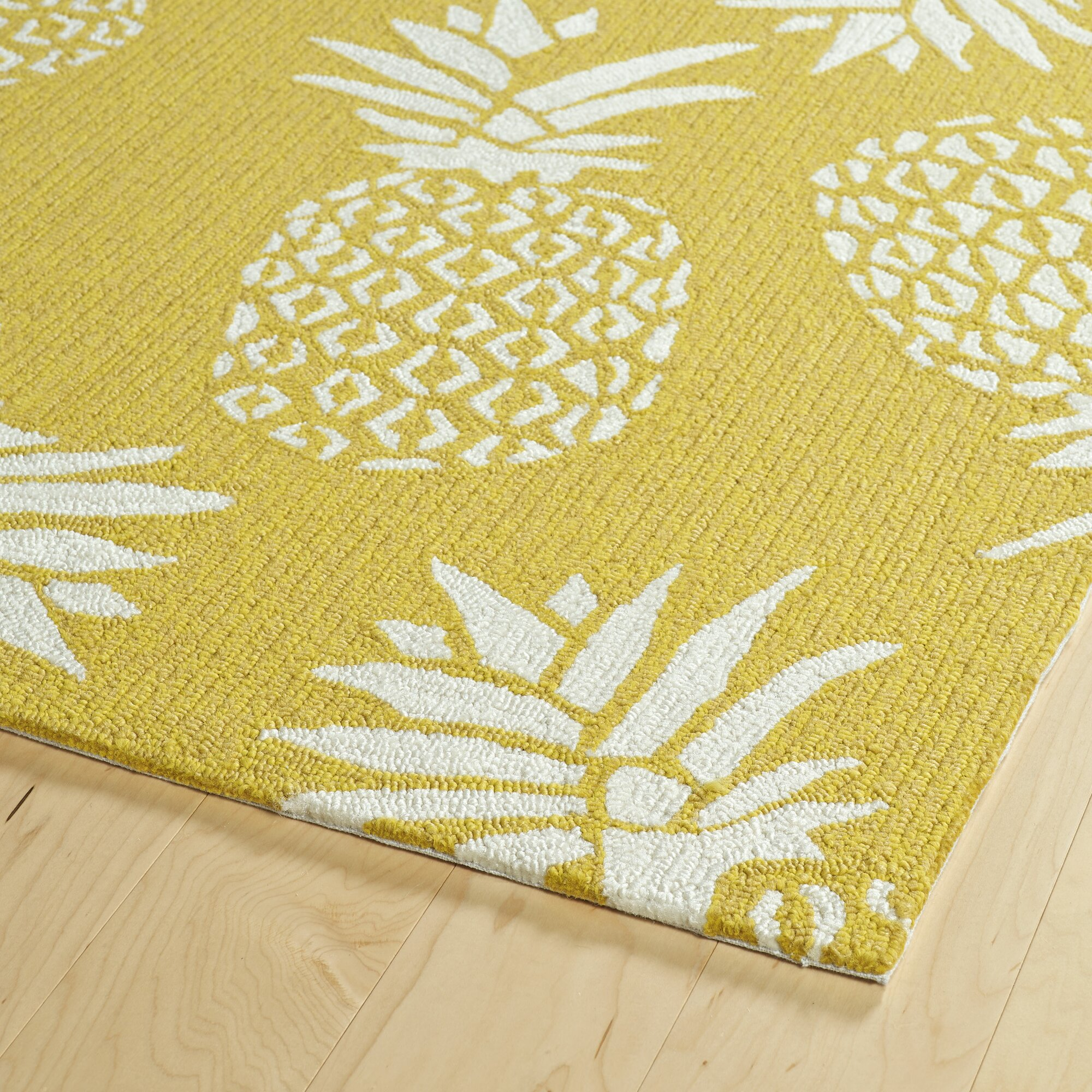 Bay isle home kioneli handmade gold indoor outdoor area for Custom made area rugs