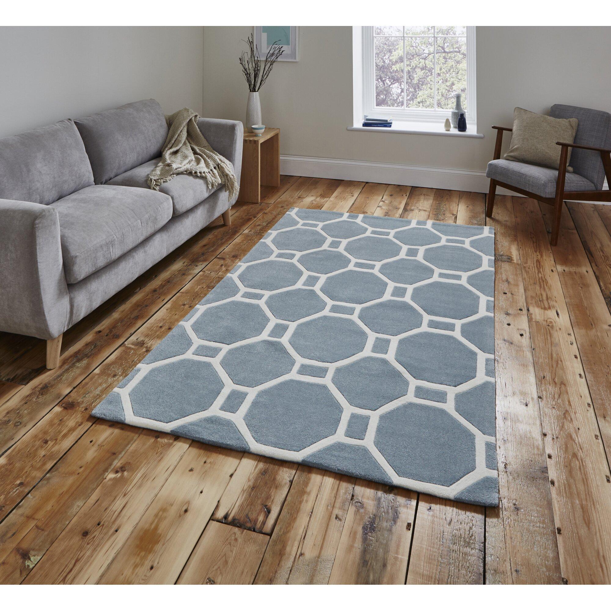 think rugs handgetufteter teppich hong kong in hellblau bewertungen. Black Bedroom Furniture Sets. Home Design Ideas