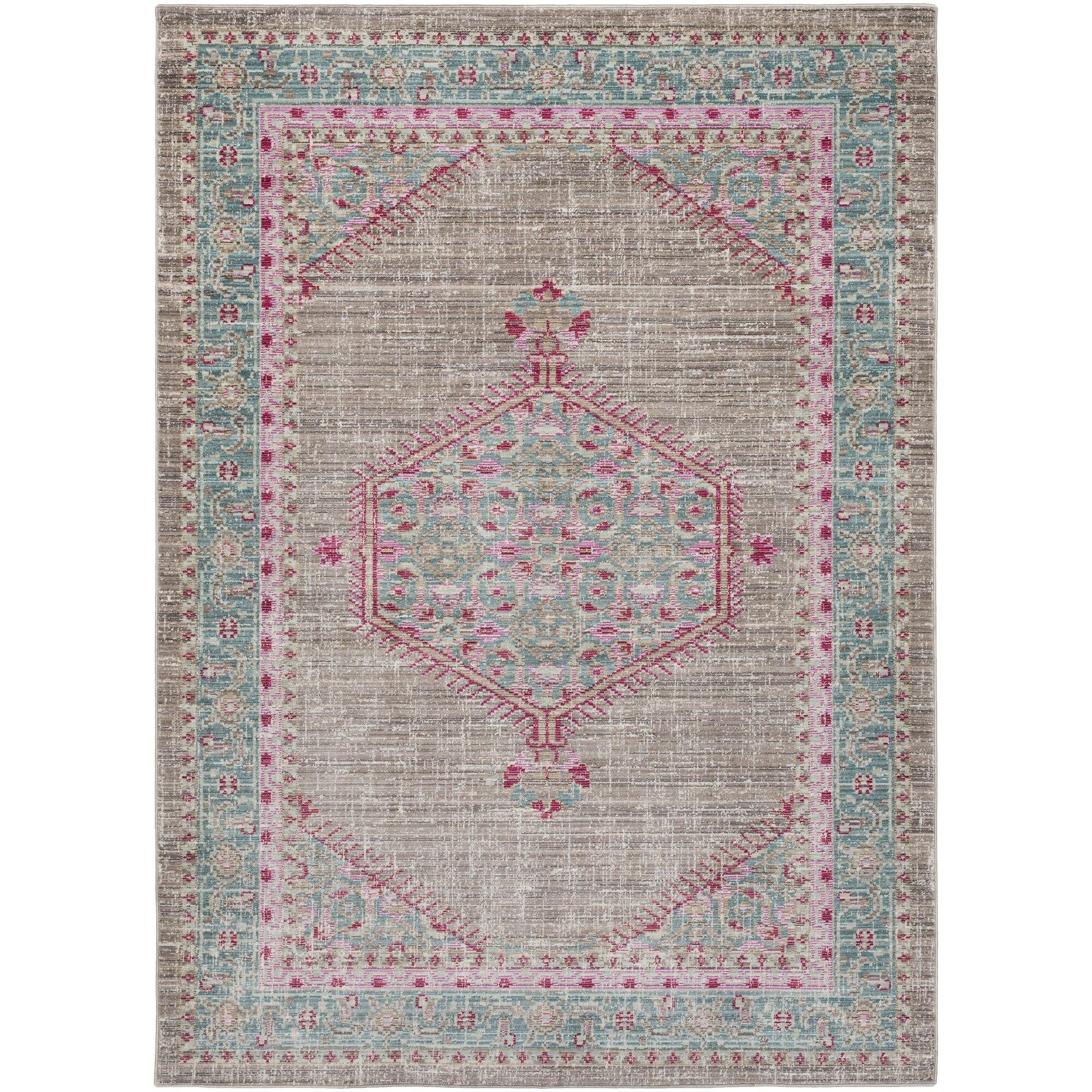 bungalow rose kamil blue pink area rug reviews wayfair. Black Bedroom Furniture Sets. Home Design Ideas
