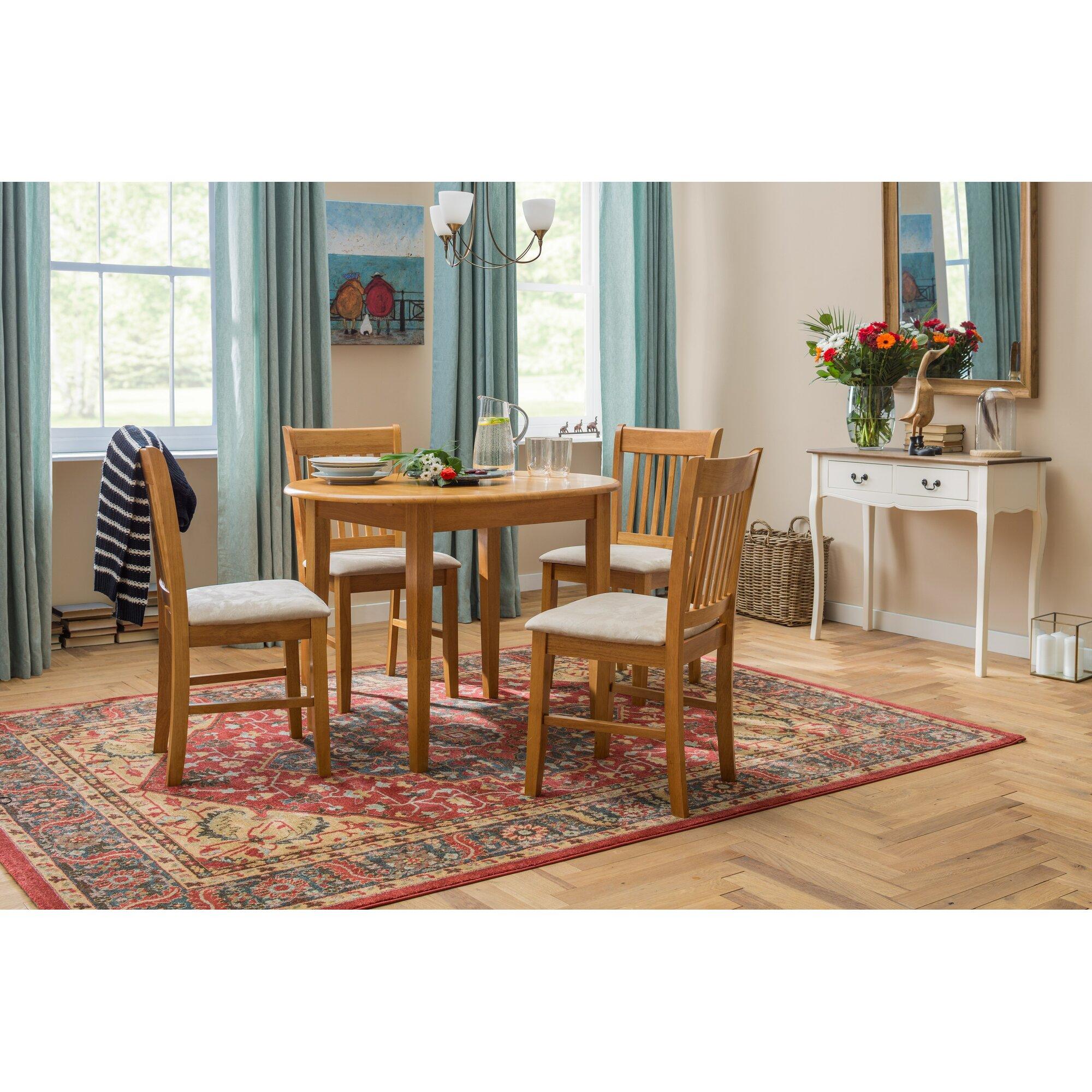 classicliving essgruppe lincklaen mit ausziehbarem tisch und 4 st hlen bewertungen. Black Bedroom Furniture Sets. Home Design Ideas