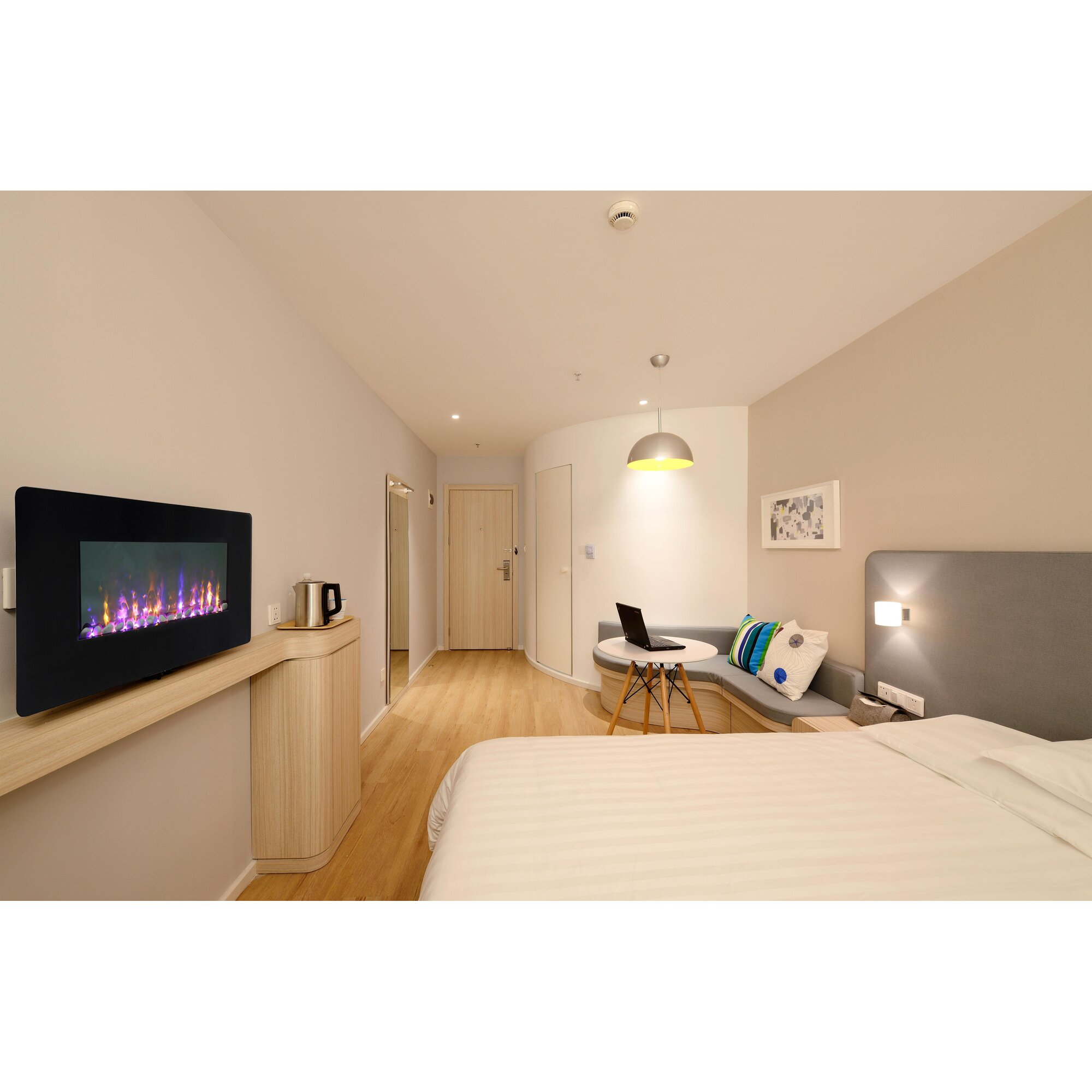 Bedroom electric fireplace - Wi Fi Smart Led Wall Mount Electric Fireplace