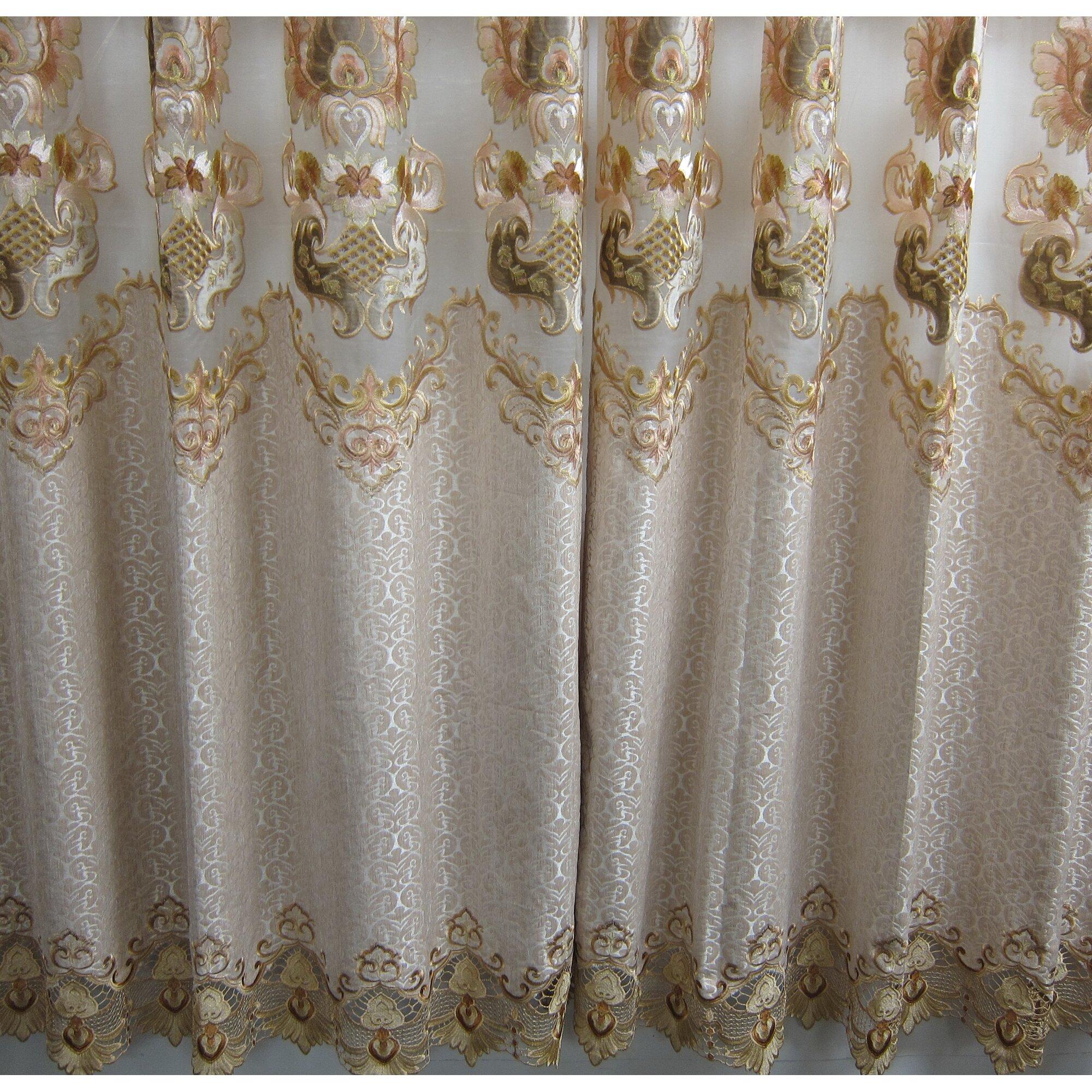 Floral Blackout Grommet Single Curtain Panel