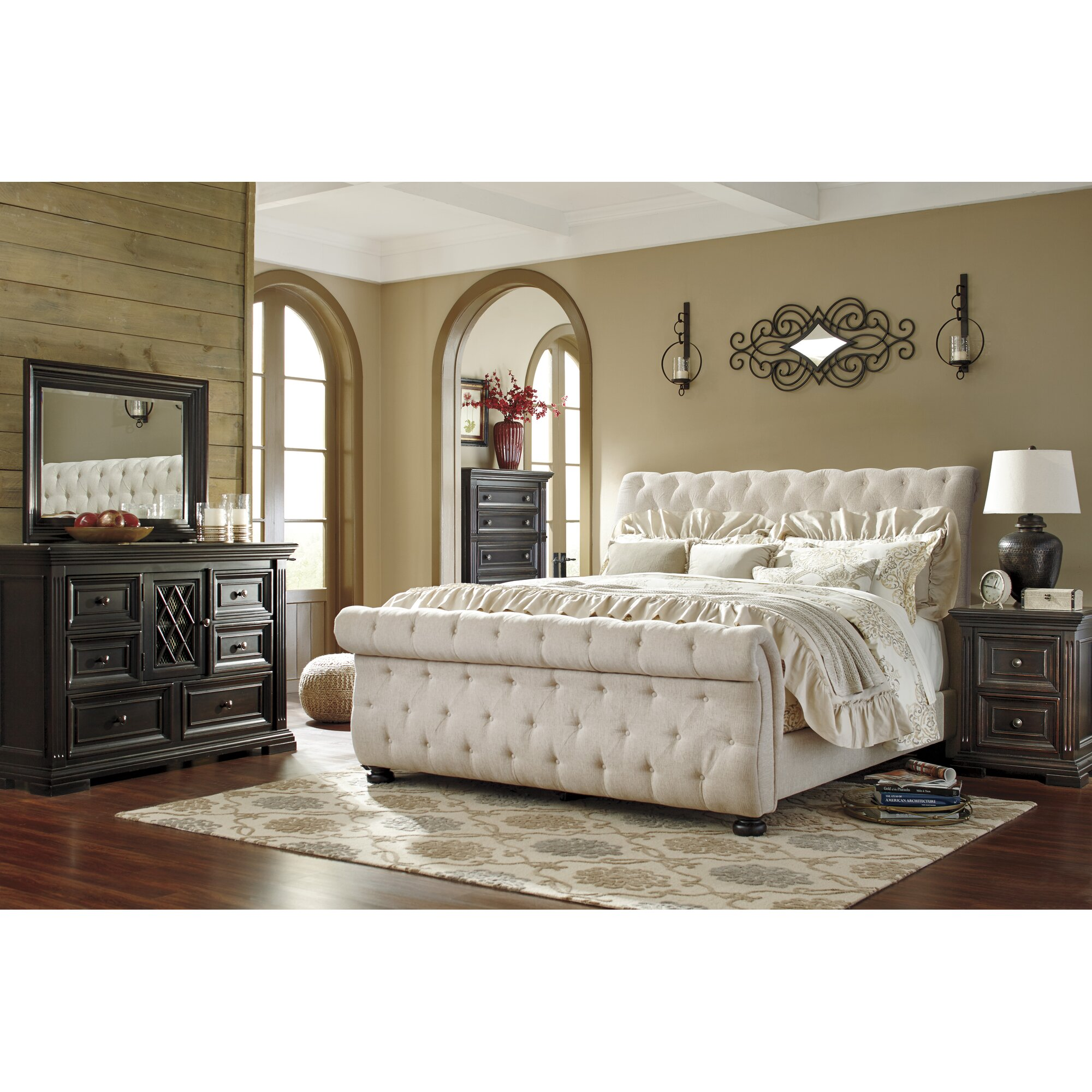 Find The Best Upholstered Fabric Bedroom Sets | Wayfair
